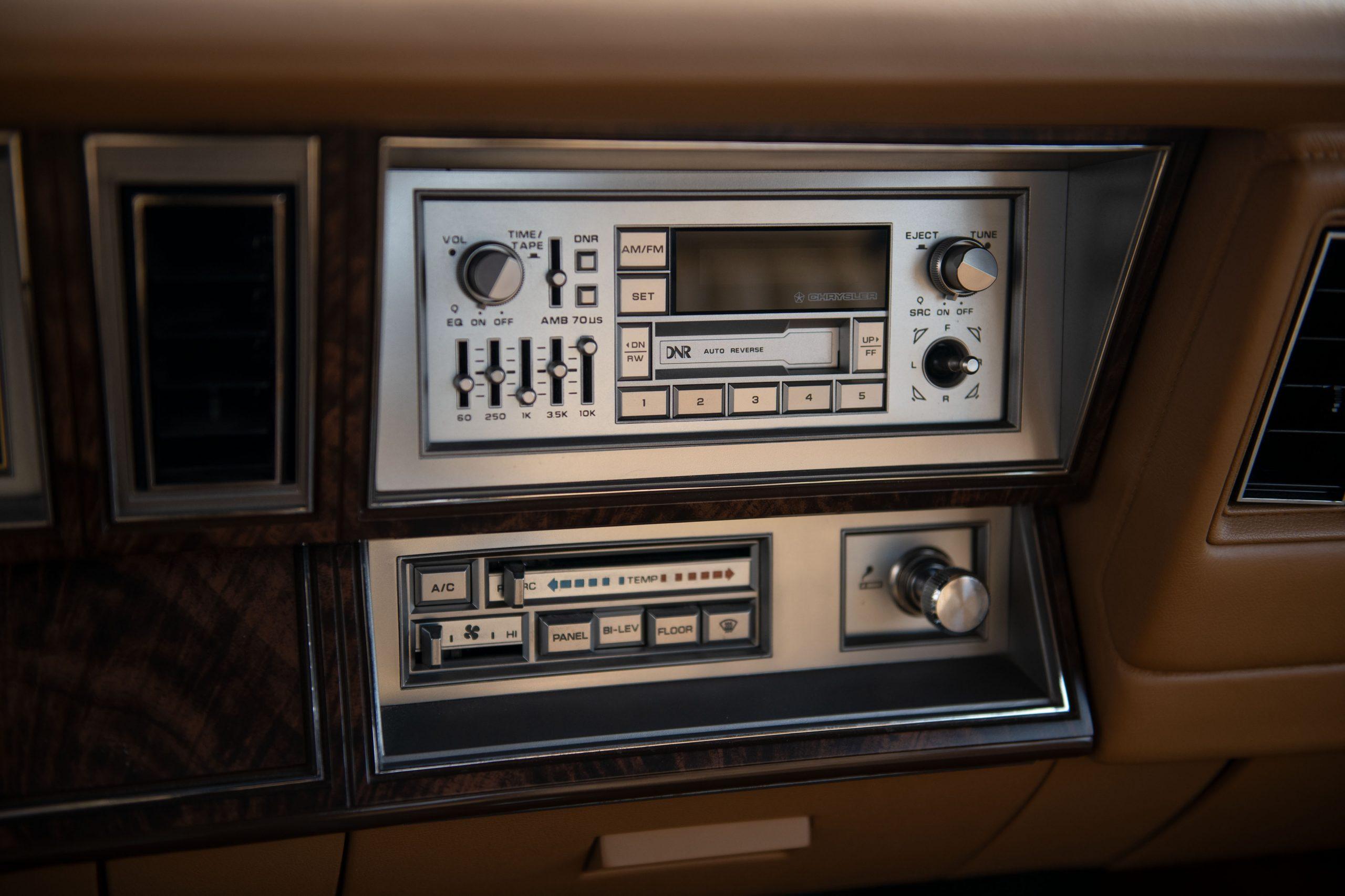 1985-Chrysler-LeBaron interior radio