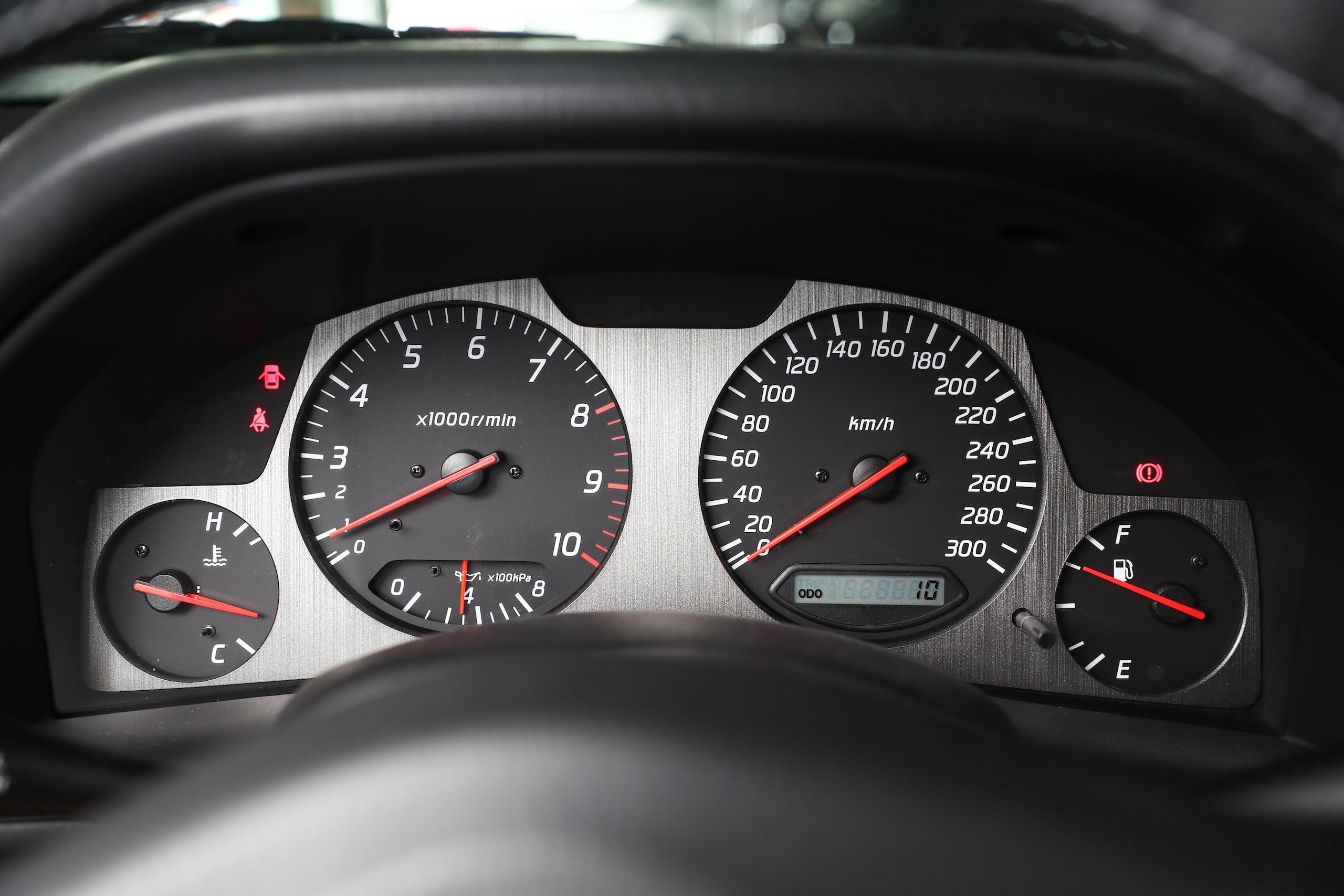2002 Nissan Skyline GT-R interior dash gauges