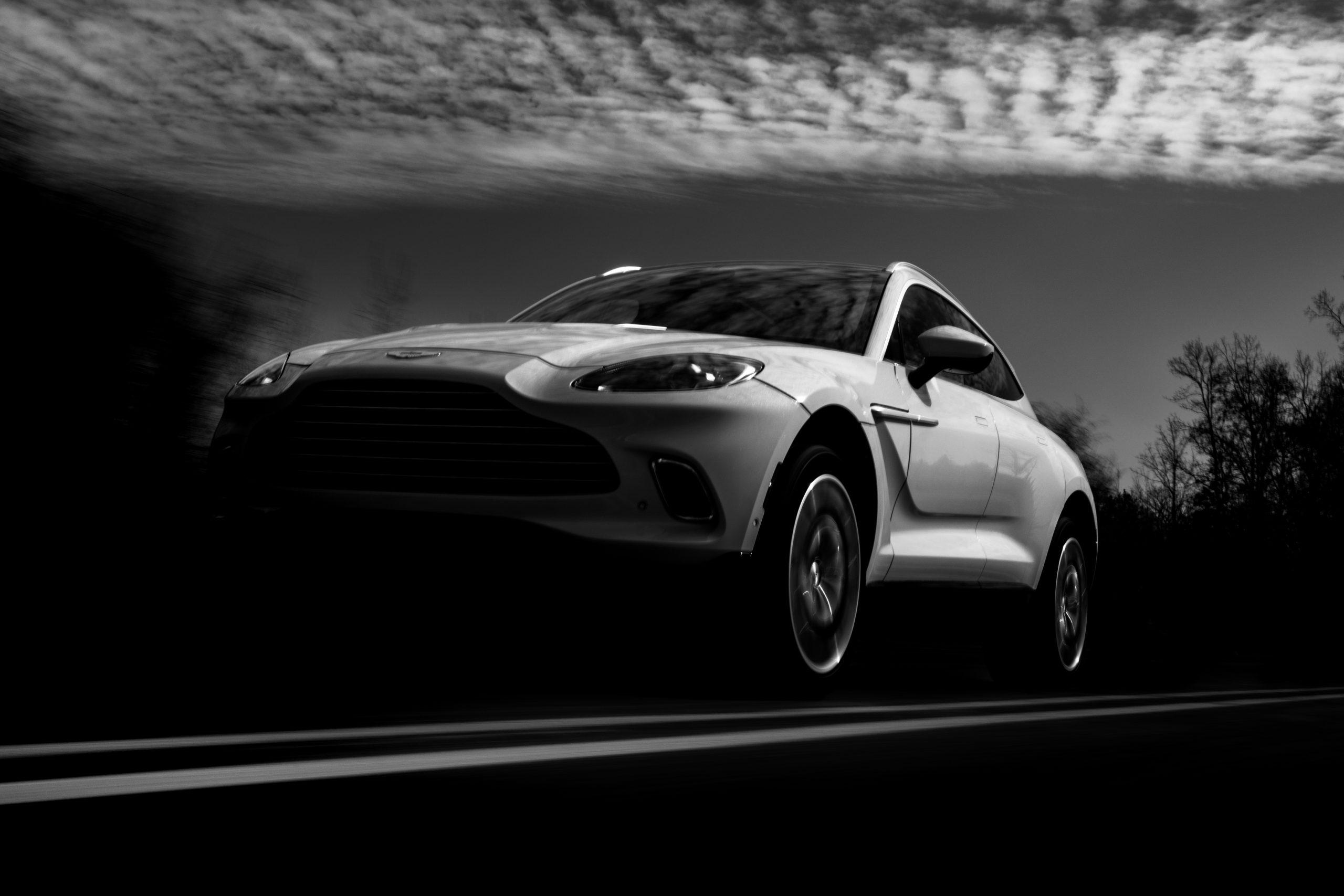 2021 Aston Martin DBX black and white