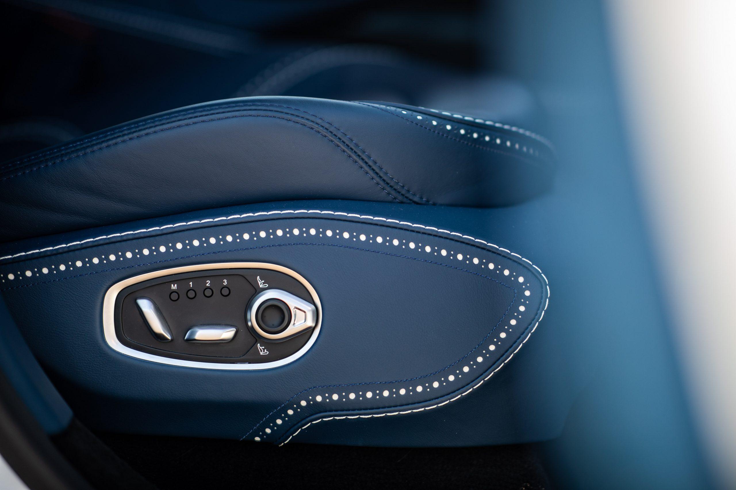 2021 Aston Martin DBX interior seat modes