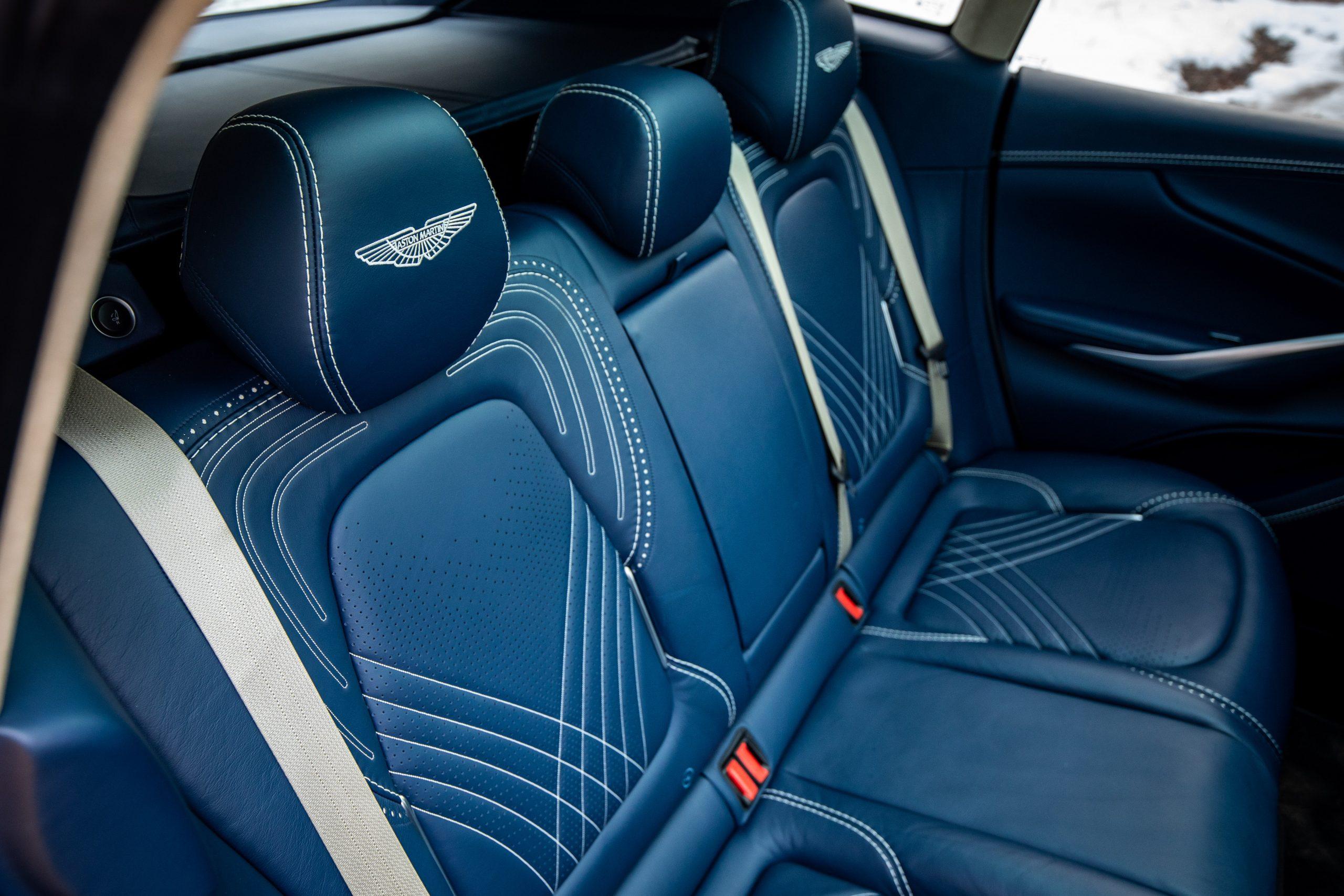 2021 Aston Martin DBX interior rear seat