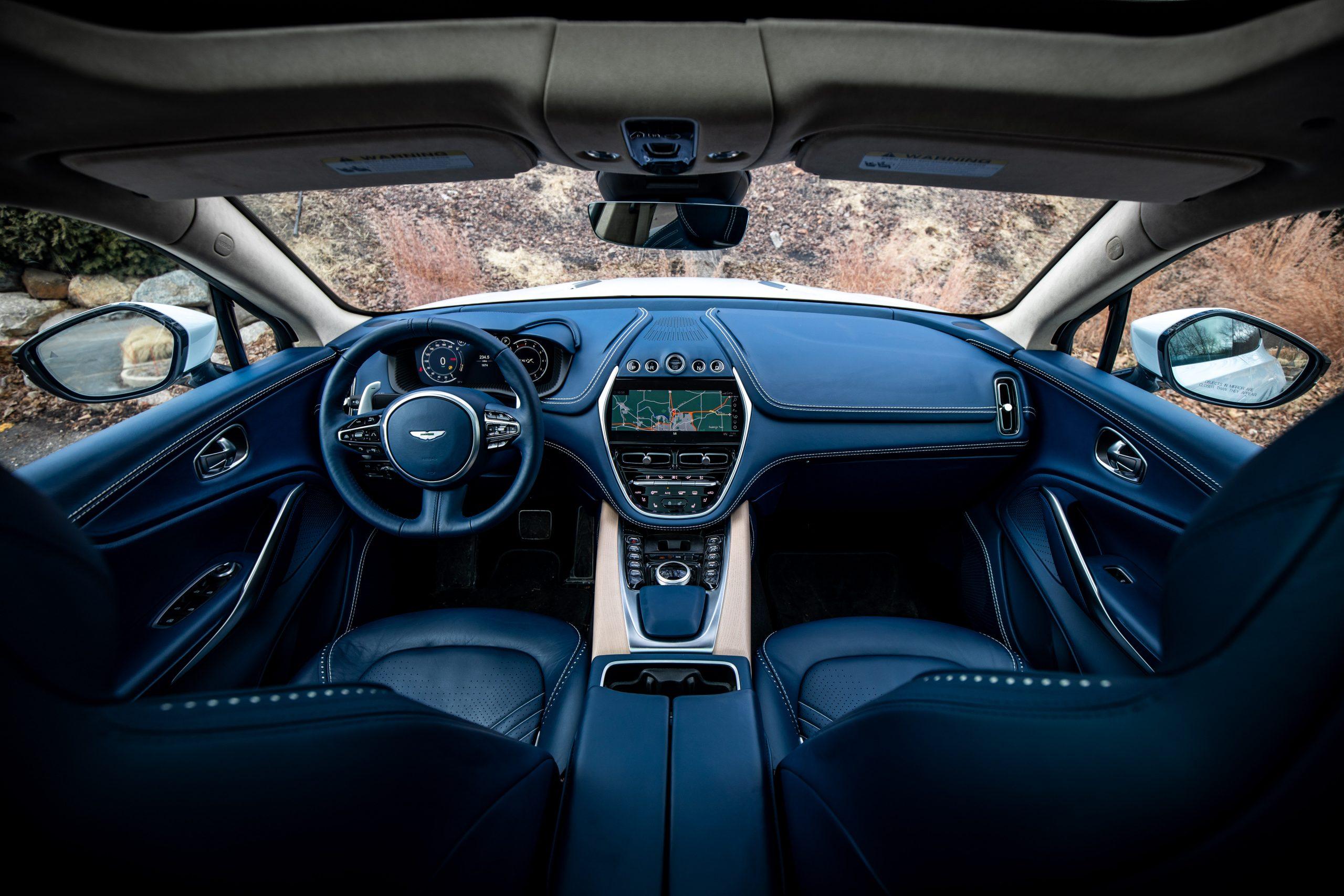 2021 Aston Martin DBX interior front