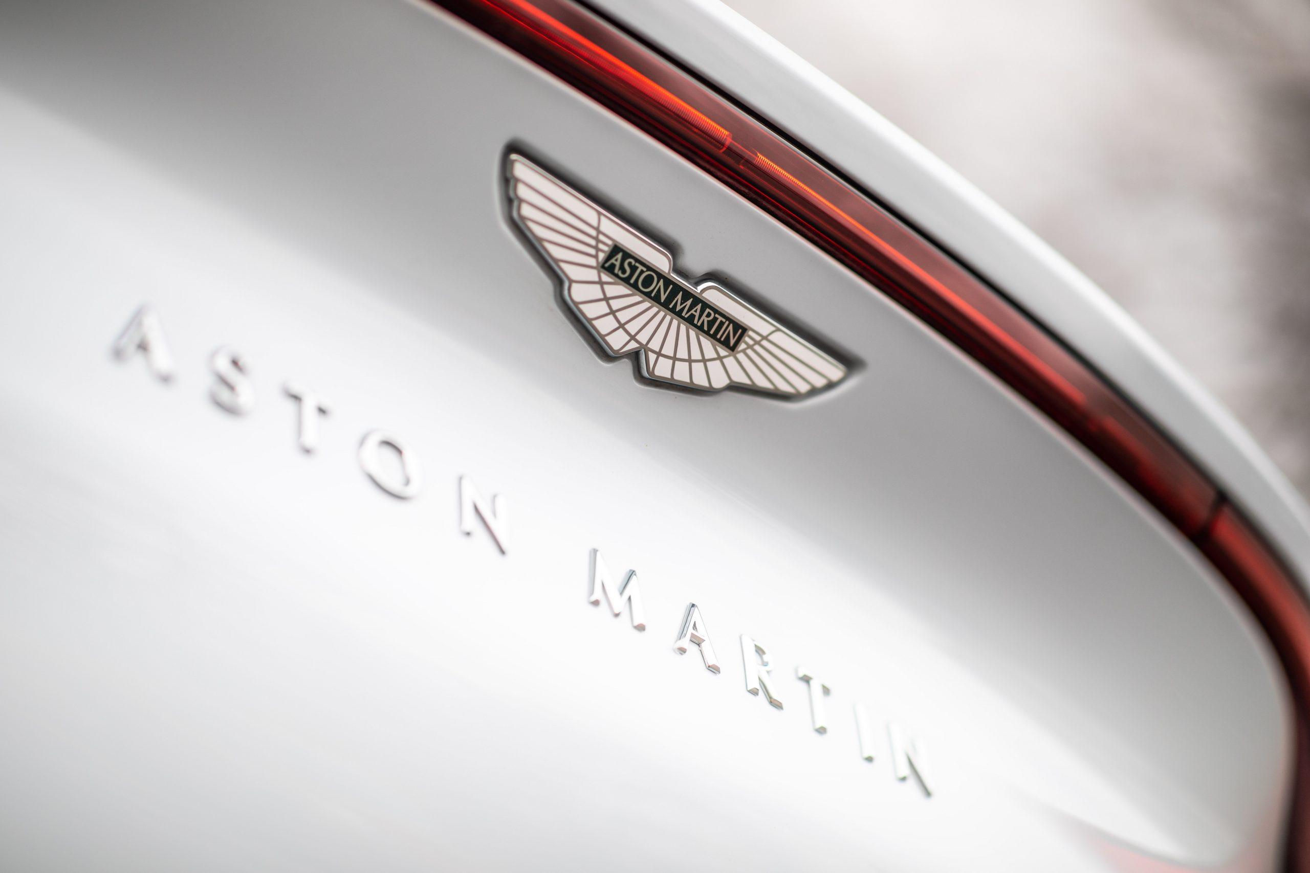 2021 Aston Martin DBX rear trunk badge lettering