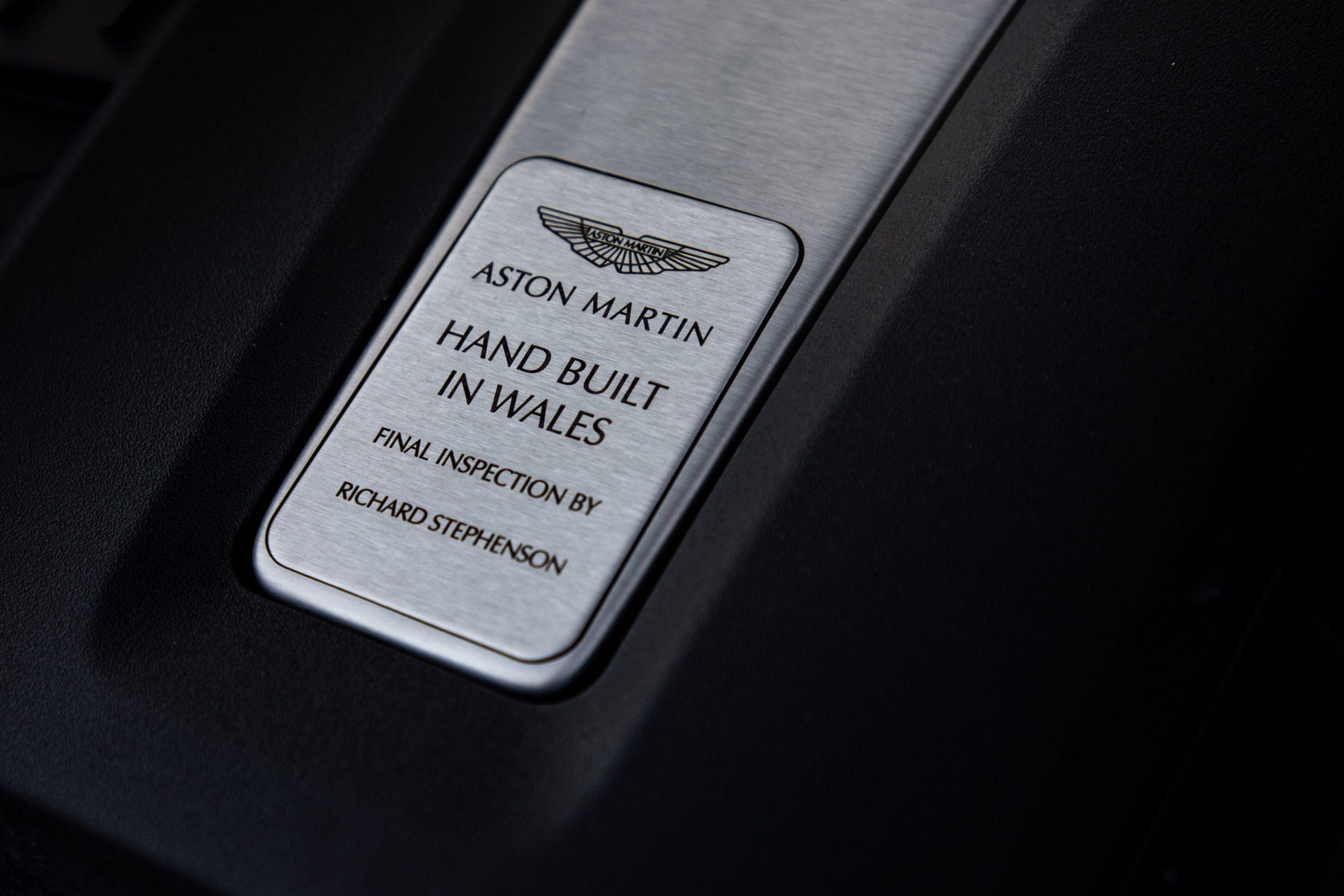 2021 Aston Martin DBX engine hand built detail