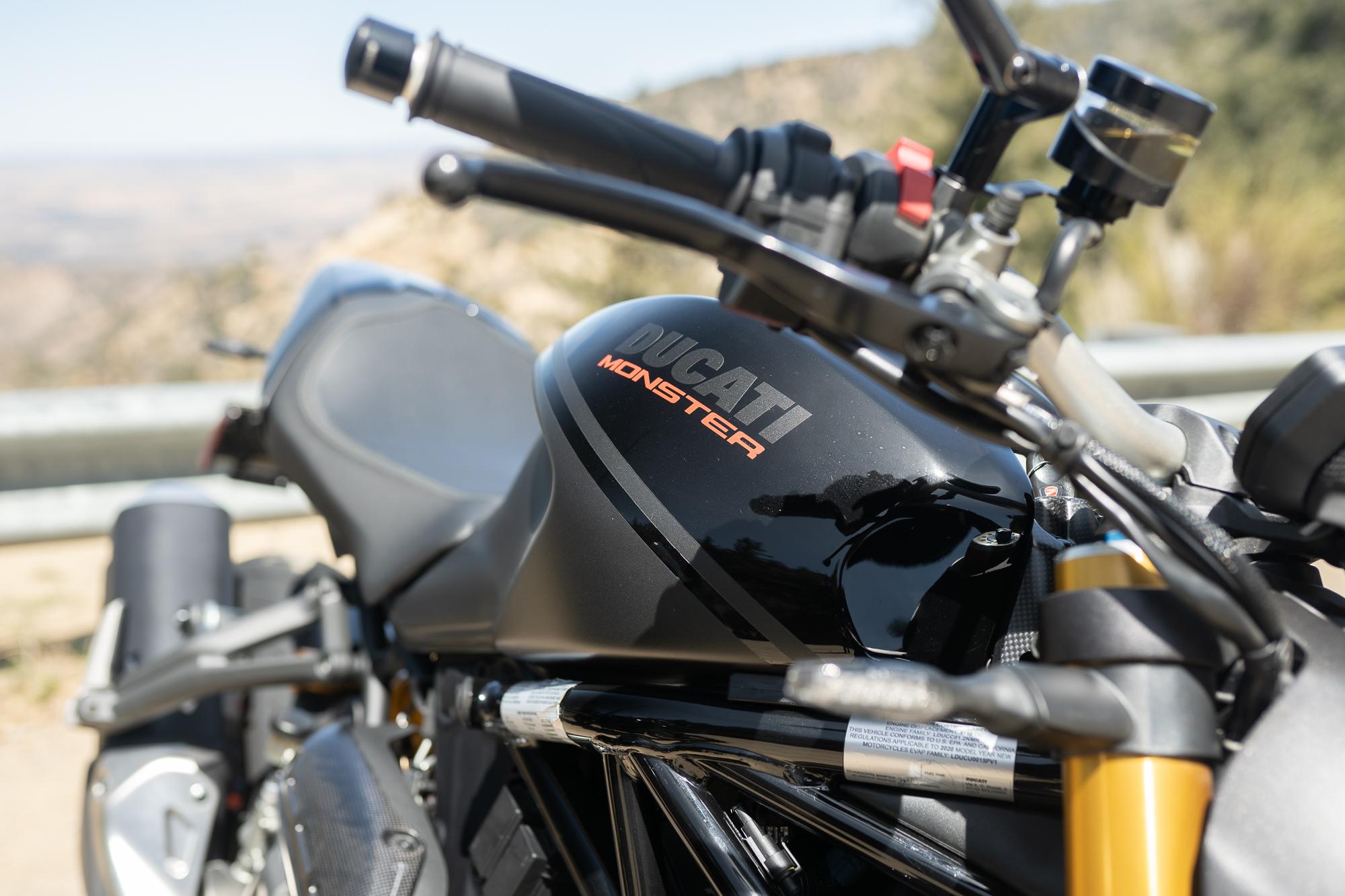 2021 Ducati Monster 1200 S tank detail