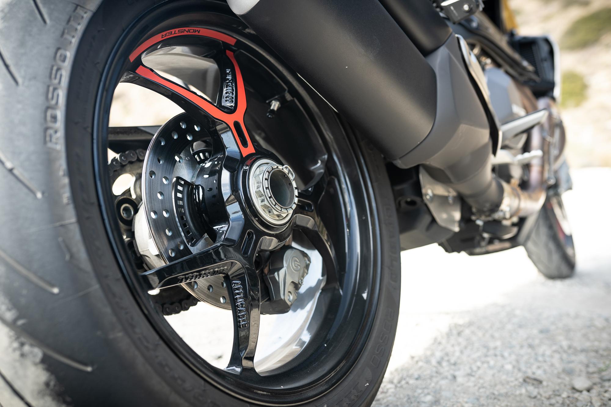 2021 Ducati Monster 1200 S rear wheel detail