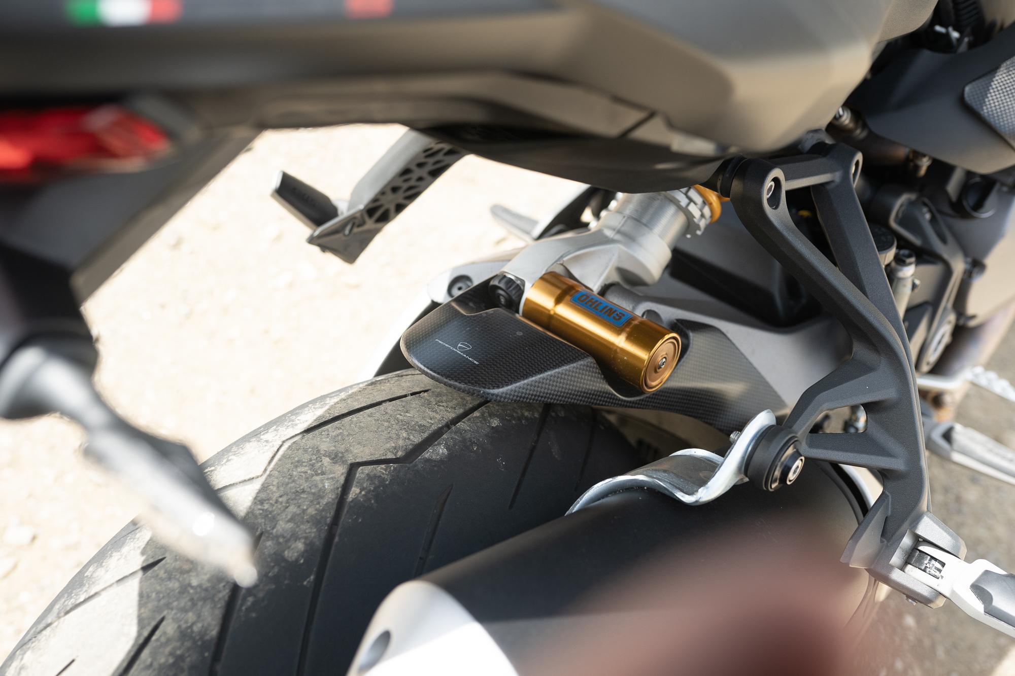 2021 Ducati Monster 1200 S rear suspension detail
