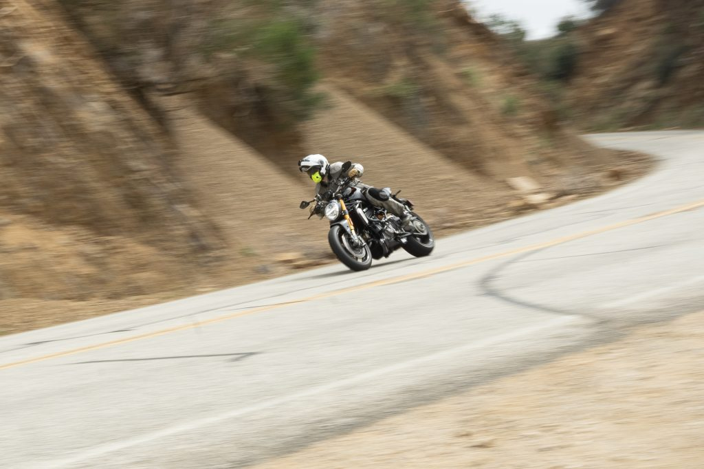 2021 Ducati Monster 1200 S cornering action