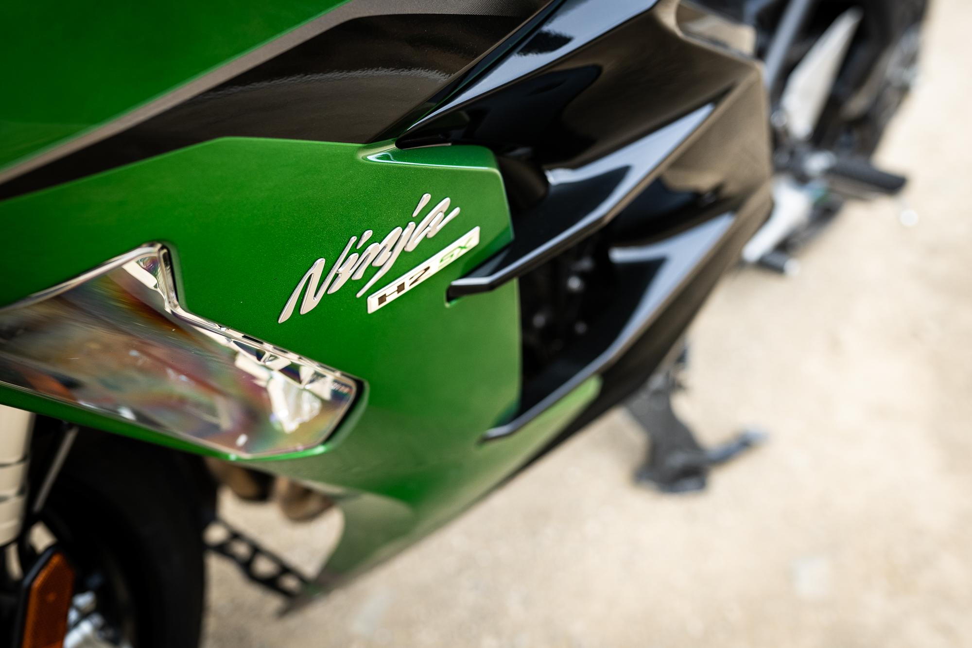 2021 Kawasaki H2 SX-SE tank badging detail