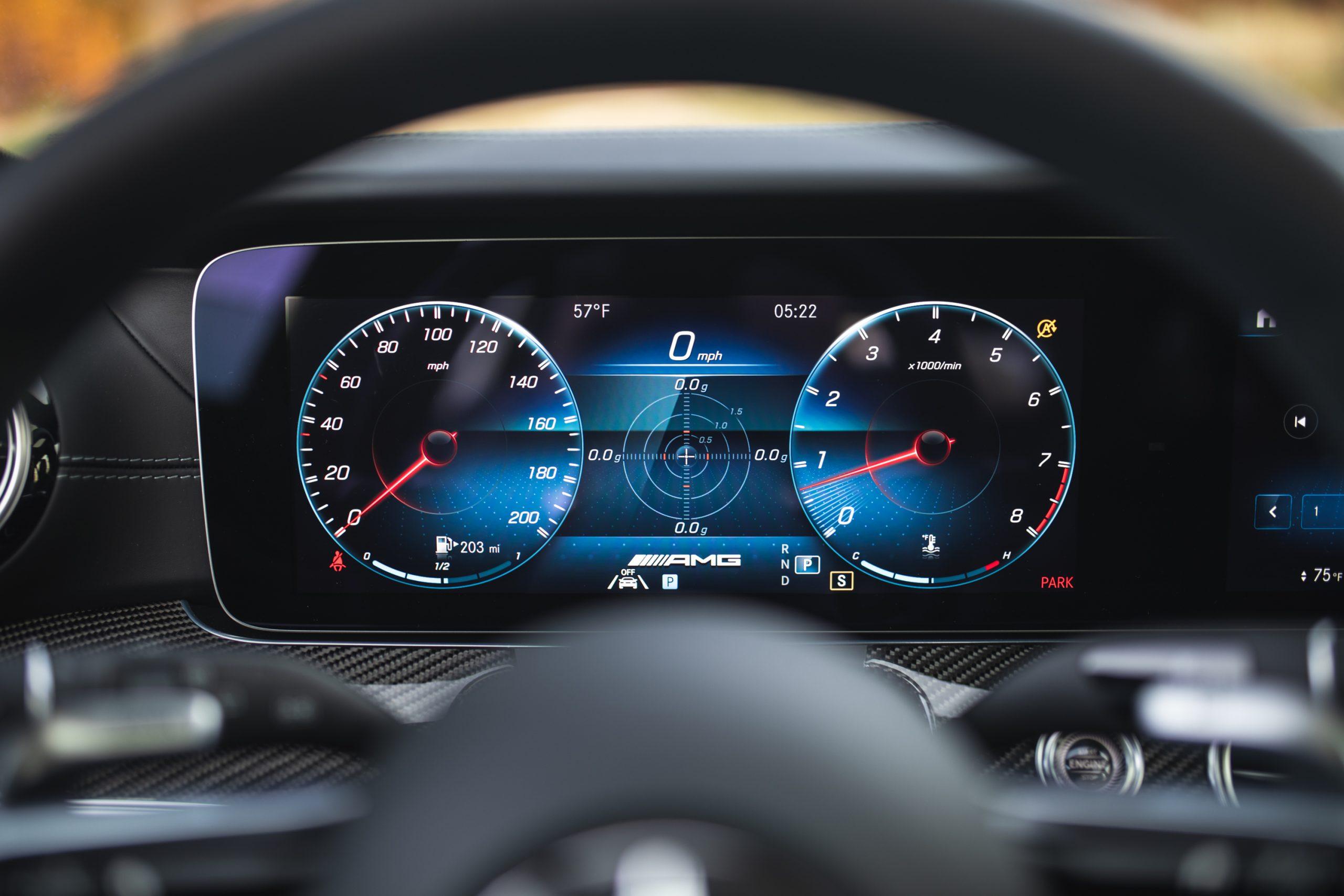 2021 Mercedes-AMG E63 S interior digital gauges