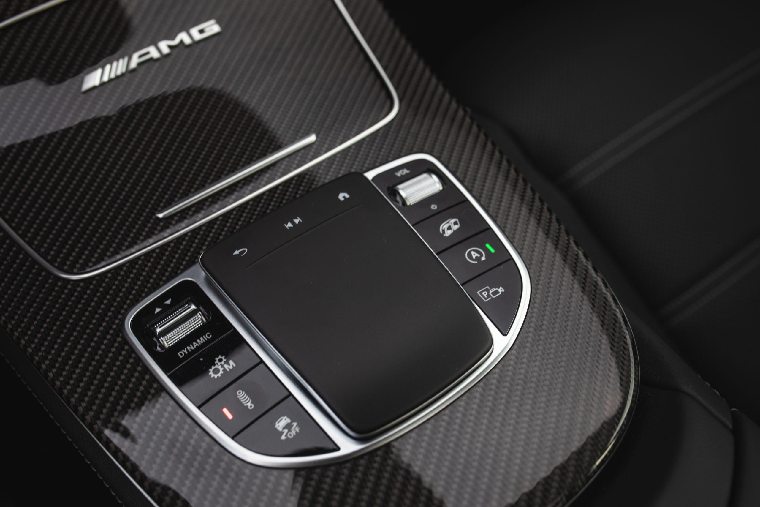 2021 Mercedes-AMG E63 S interior center console controls