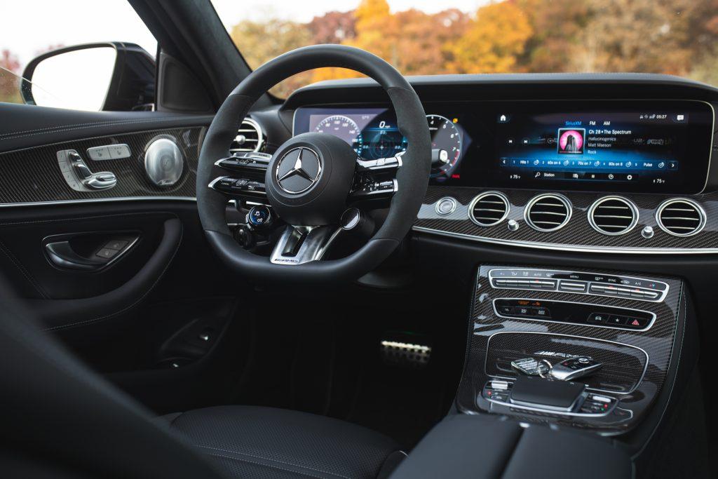 2021 Mercedes-AMG E63 S interior front angle