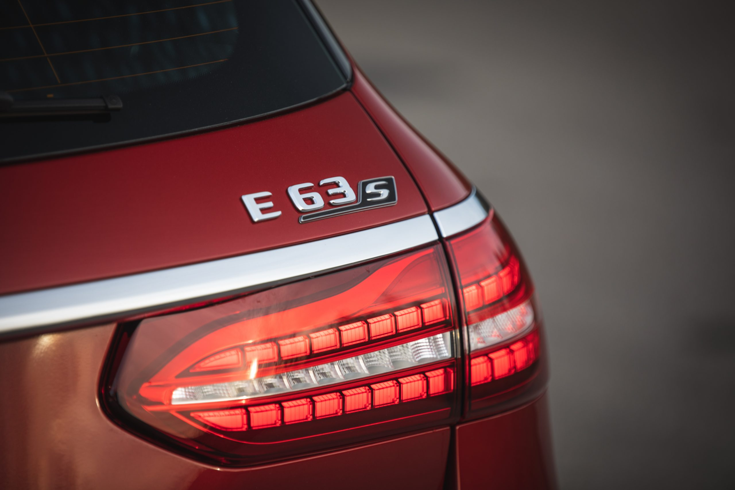 2021 Mercedes-AMG E63 S rear badge