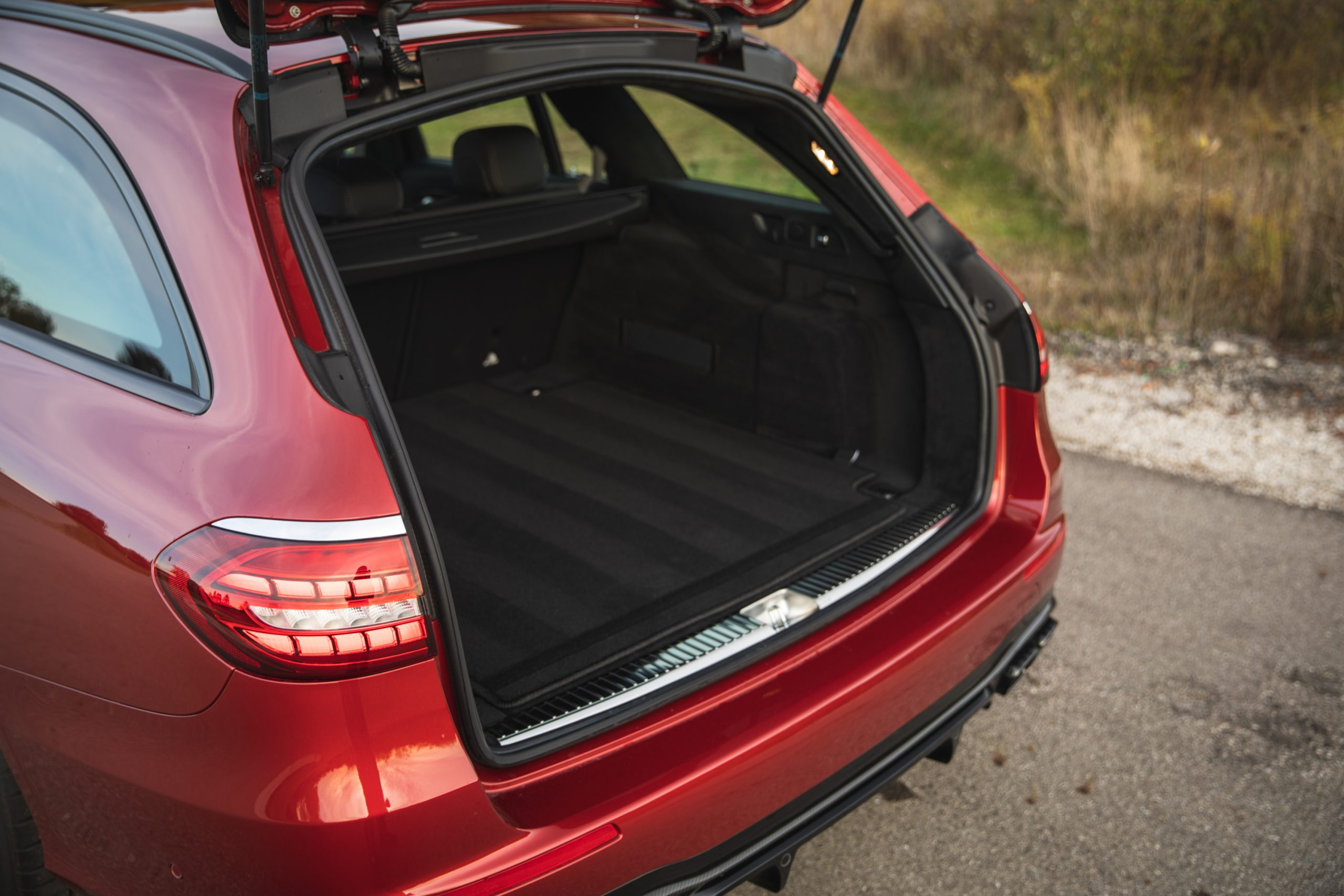 2021 Mercedes-AMG E63 S wagon rear cargo space