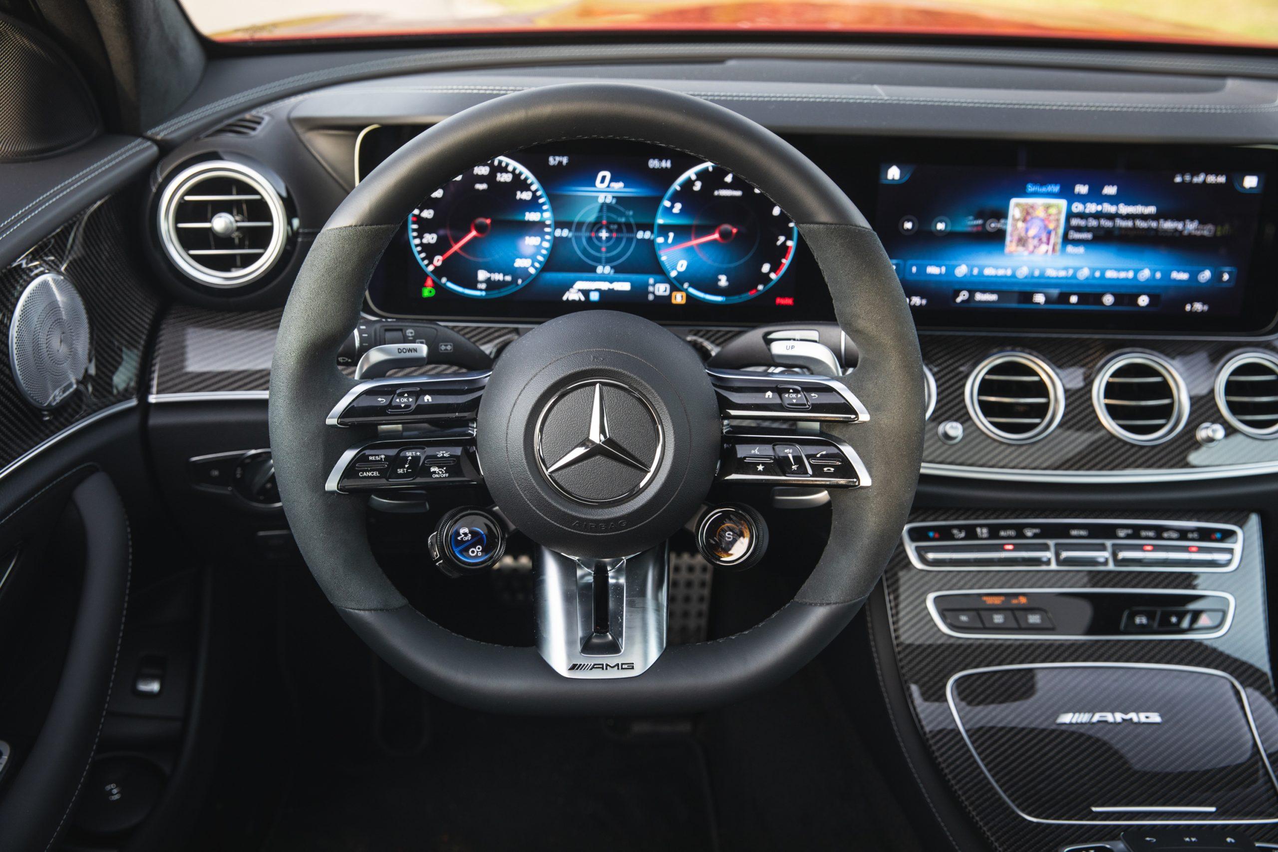 2021 Mercedes-AMG E63 S wagon interior steering wheel