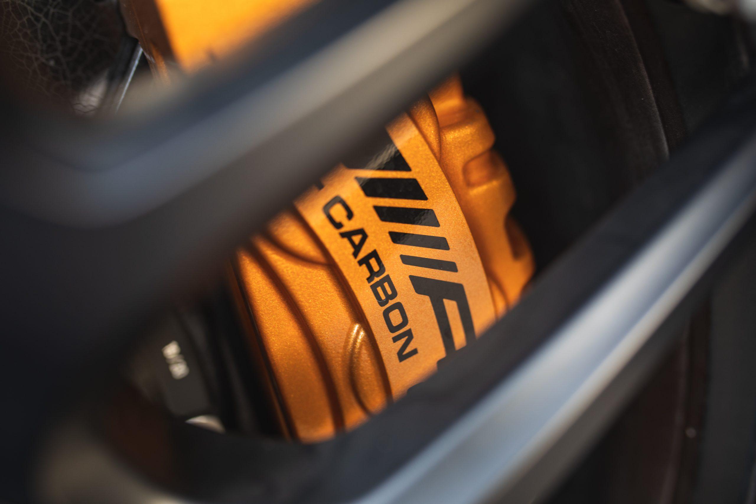 2021 Mercedes-AMG E63 S carbon ceramic brakes calipers detail