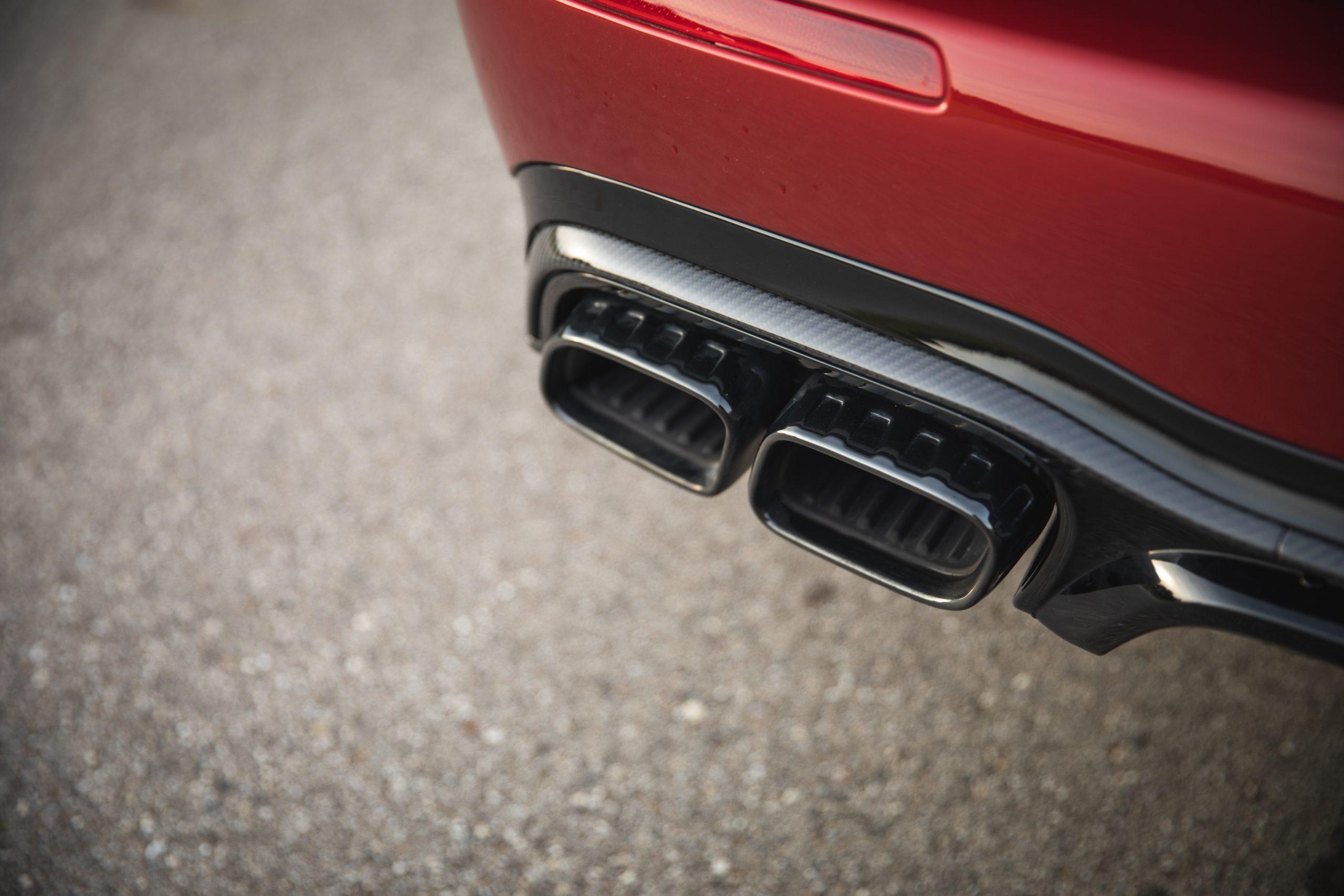 2021 Mercedes-AMG E63 S wagon rear exhaust tips