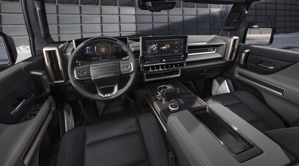 GMC Hummer EV SUV interior front