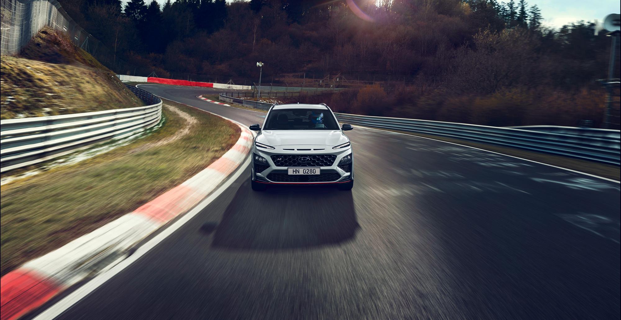 Hyundai Kona N front track