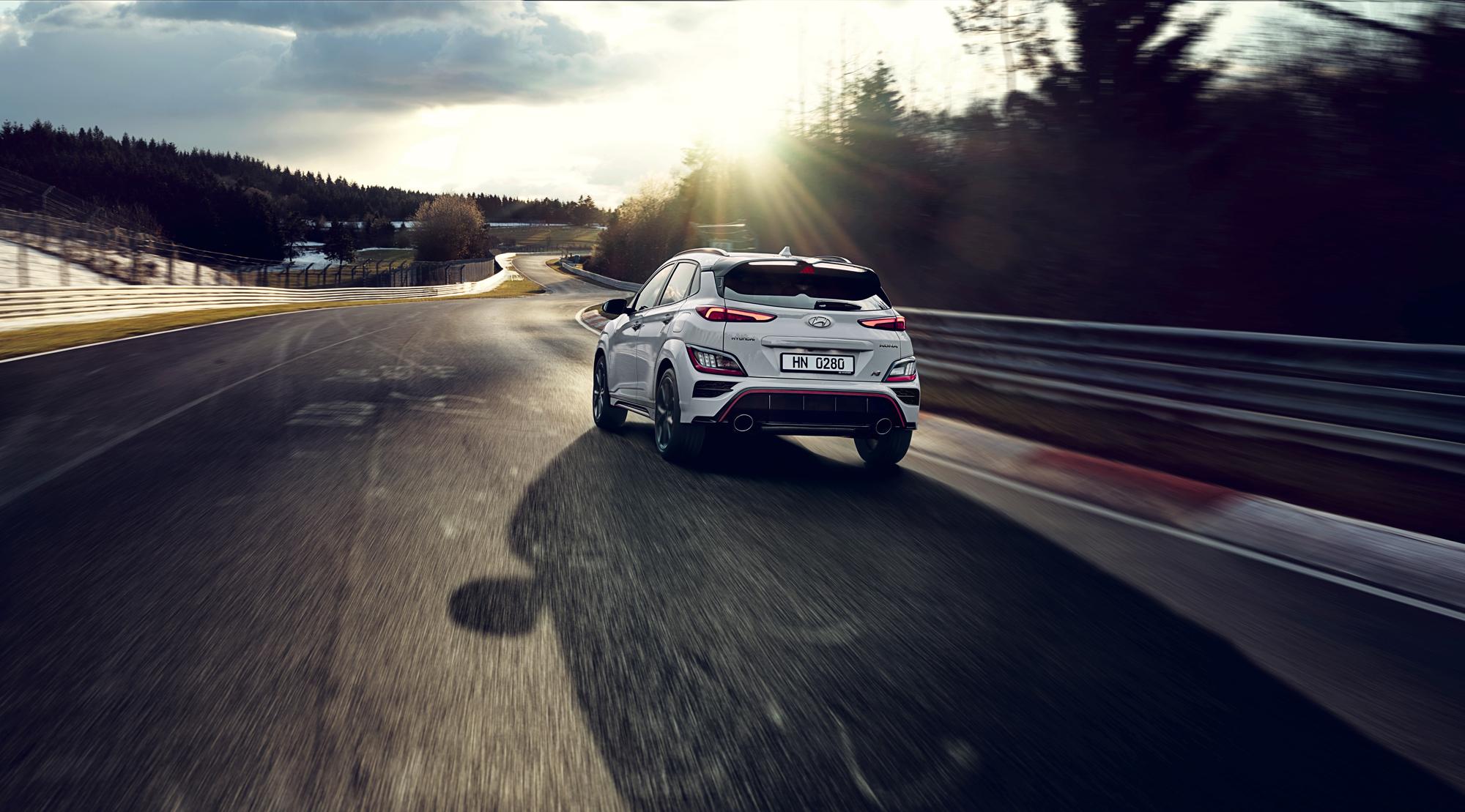 Hyundai Kona N rear track
