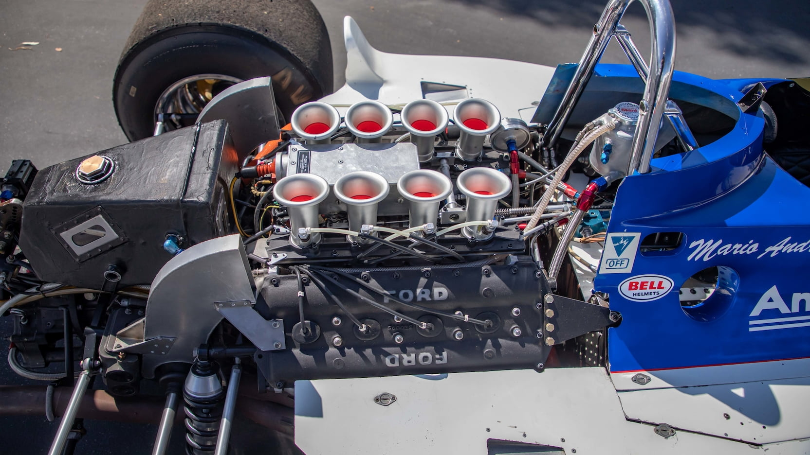 1974 Parnelli VPJ-4 Formula 1 Jones Mecum engine