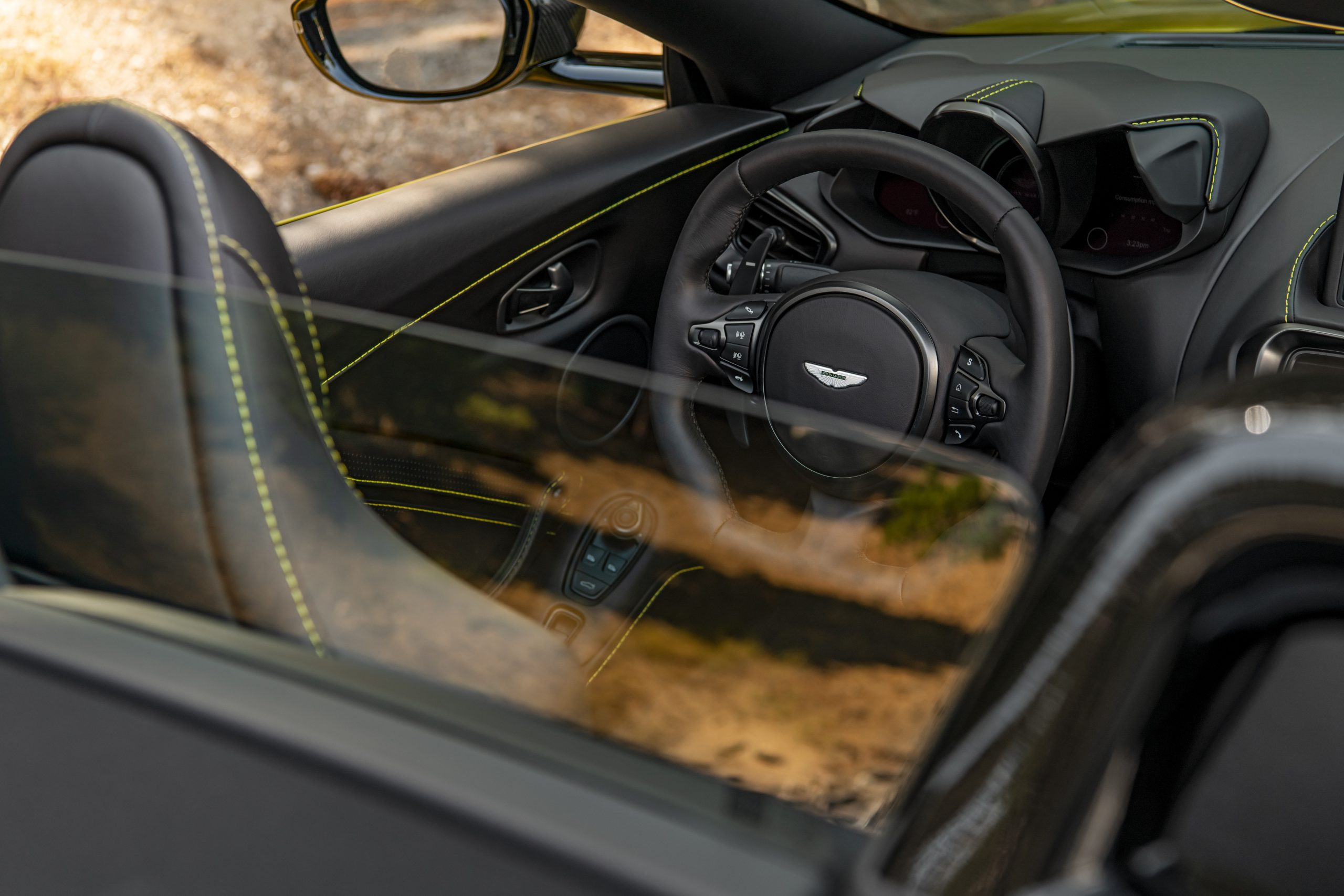 Aston Martin Vantage Roadster Yellow Tang interior