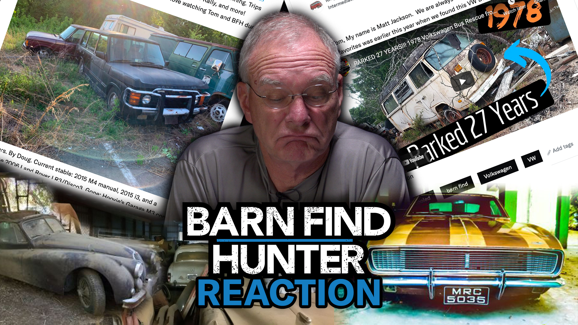 Barn Find Hunter Tom reacts to your barn finds