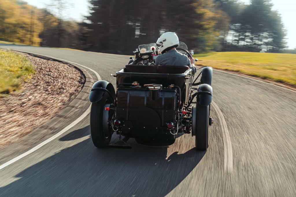 Bentley Blower Continuation Car rear action