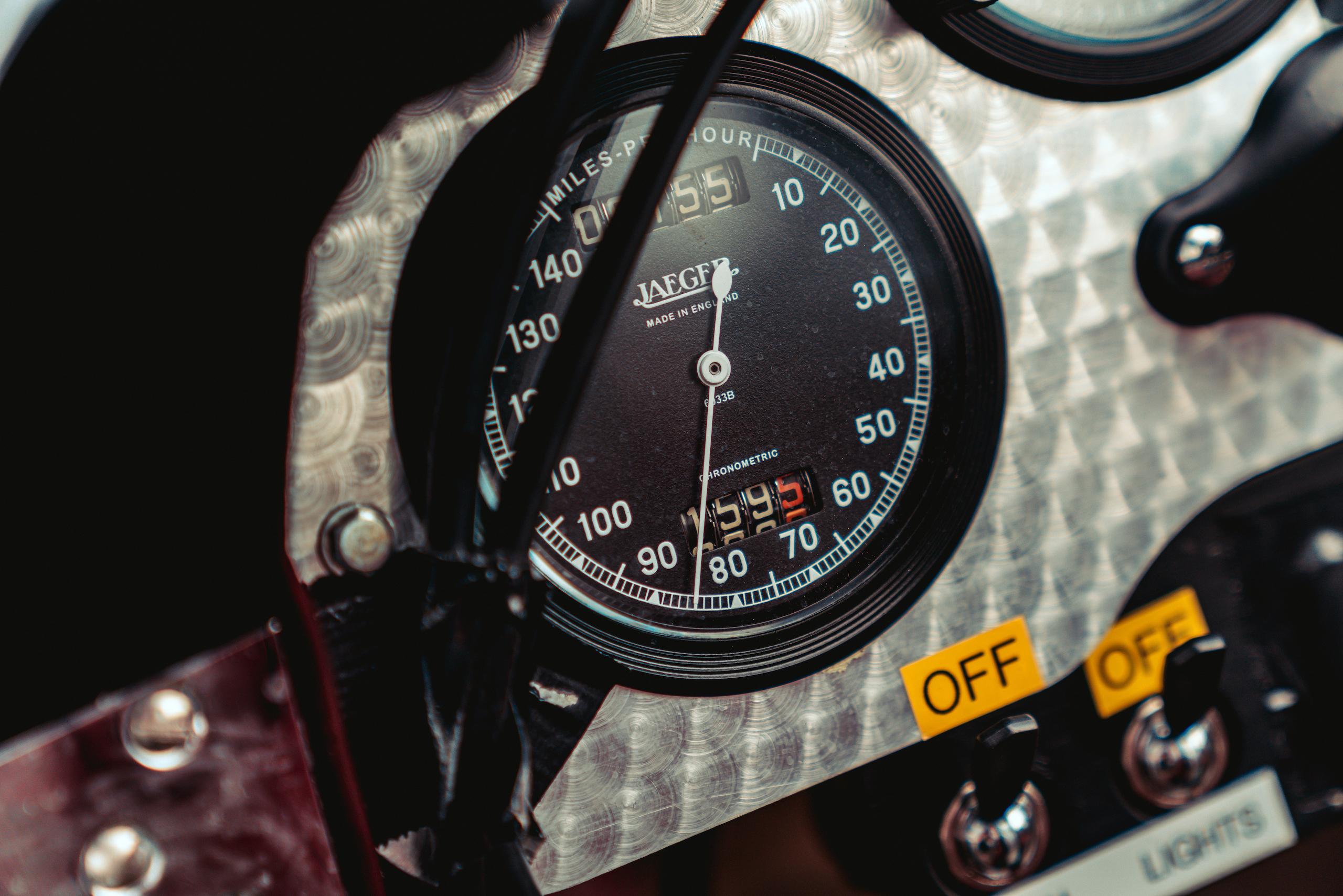 Blower Bentley speedometer gauge detail