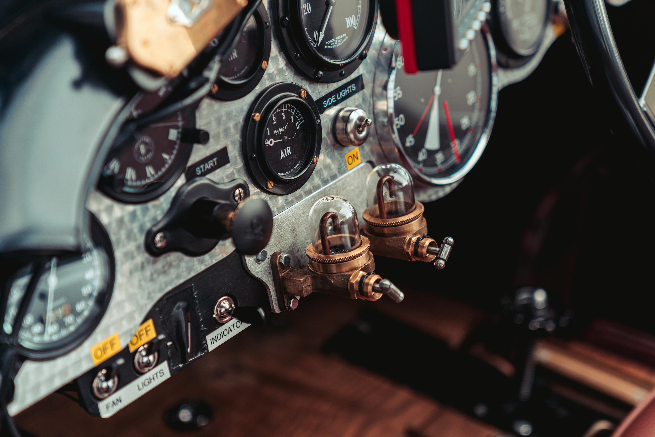 Blower Bentley interior switches detail