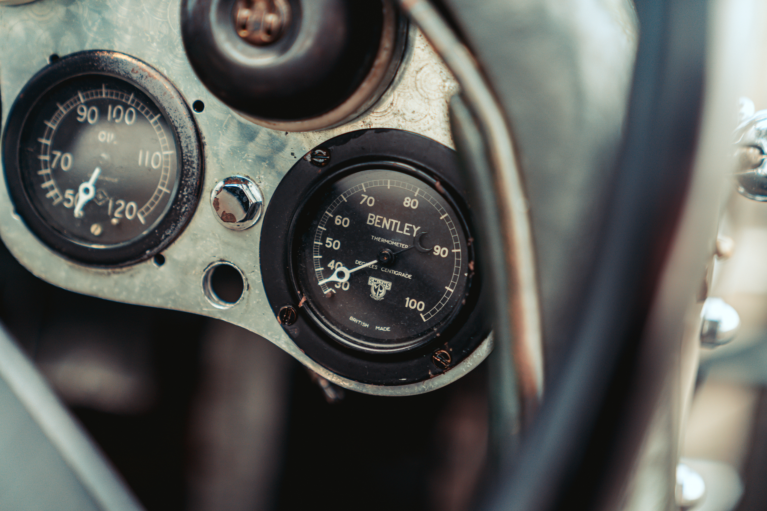 Blower Bentley interior gauges detail