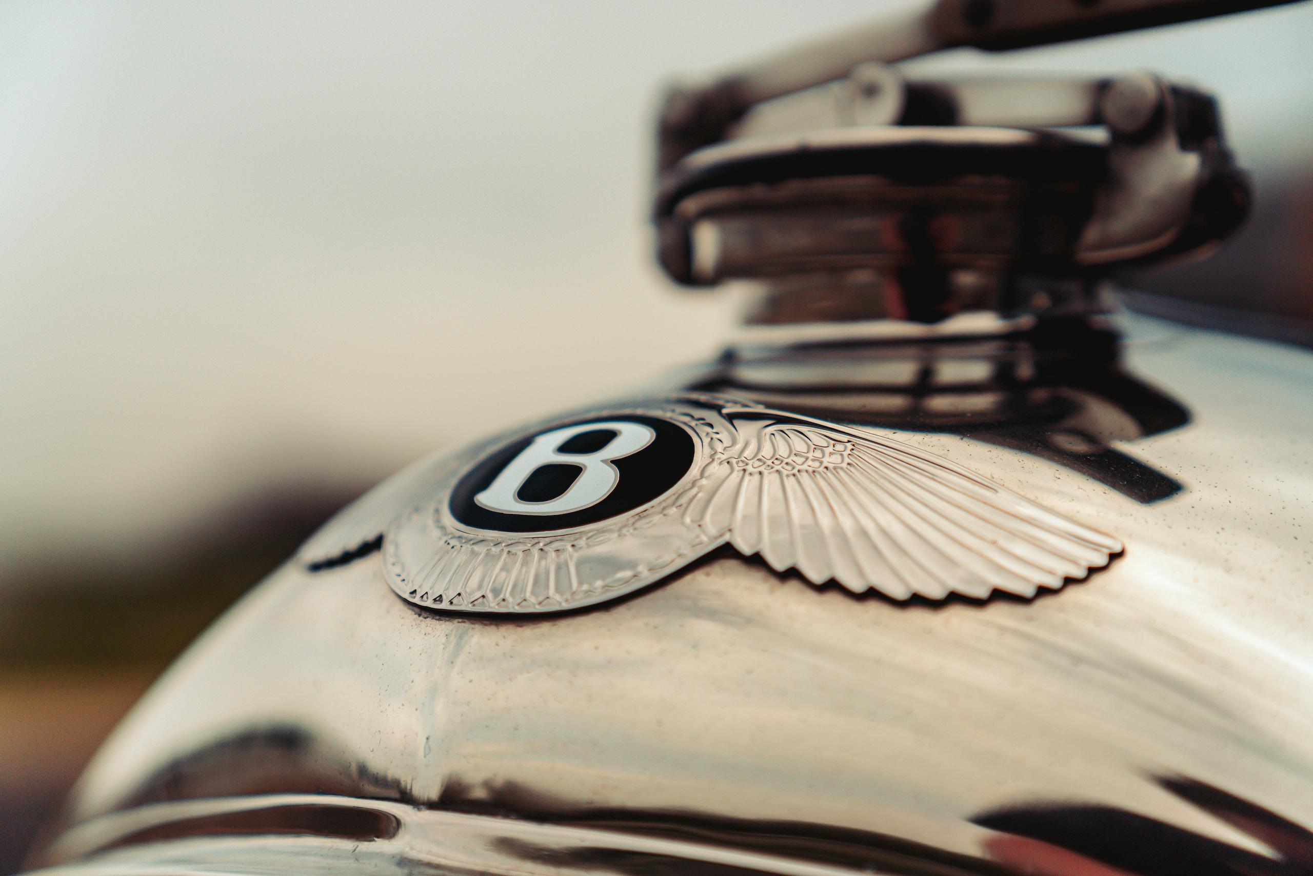 Blower Bentley hood detail