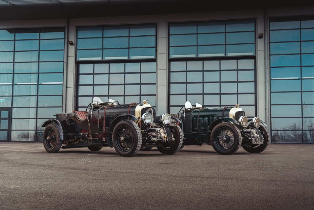 Blower Bentley front three-quarter side by side