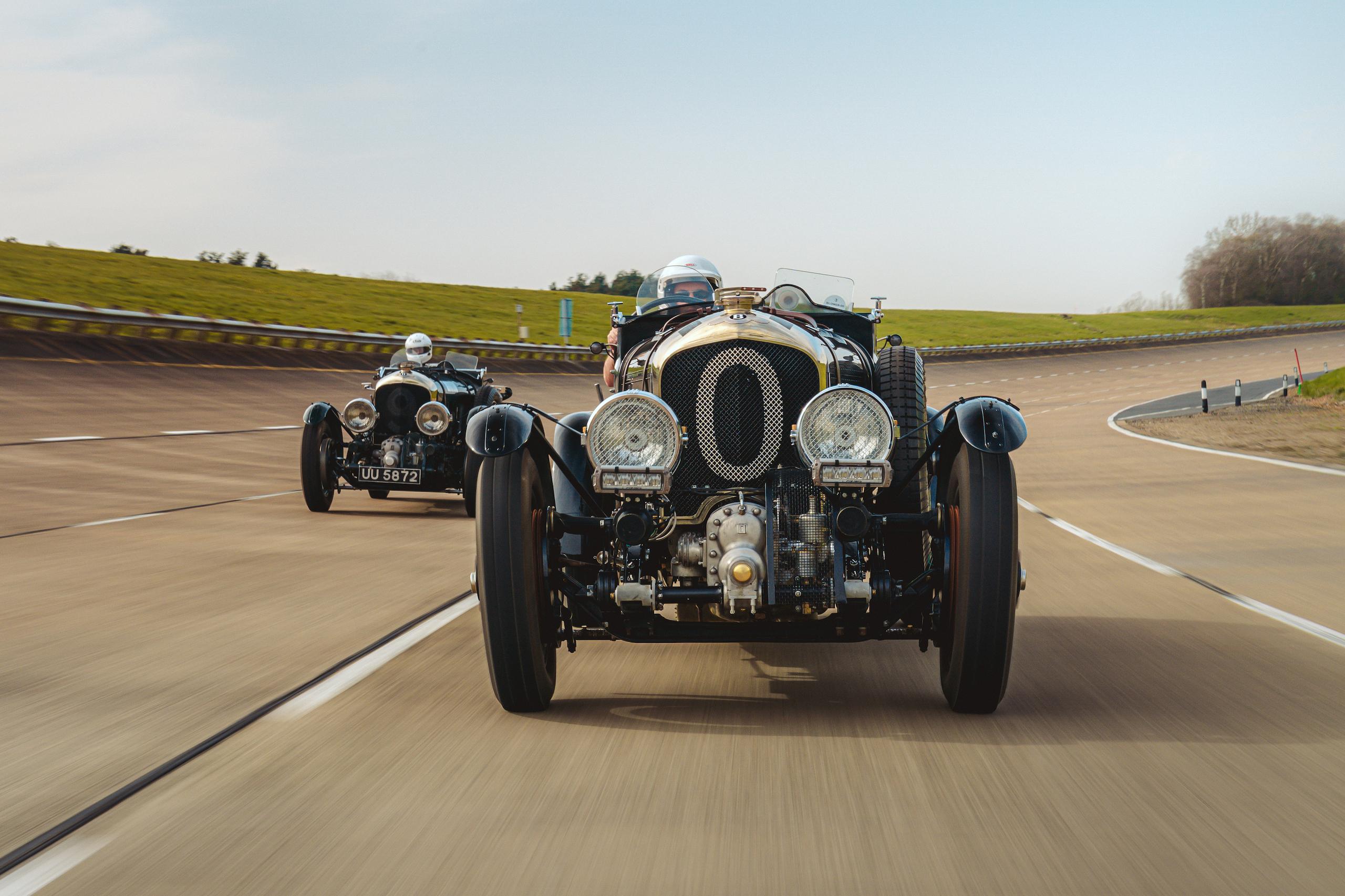 Blower Bentley racing action fronts