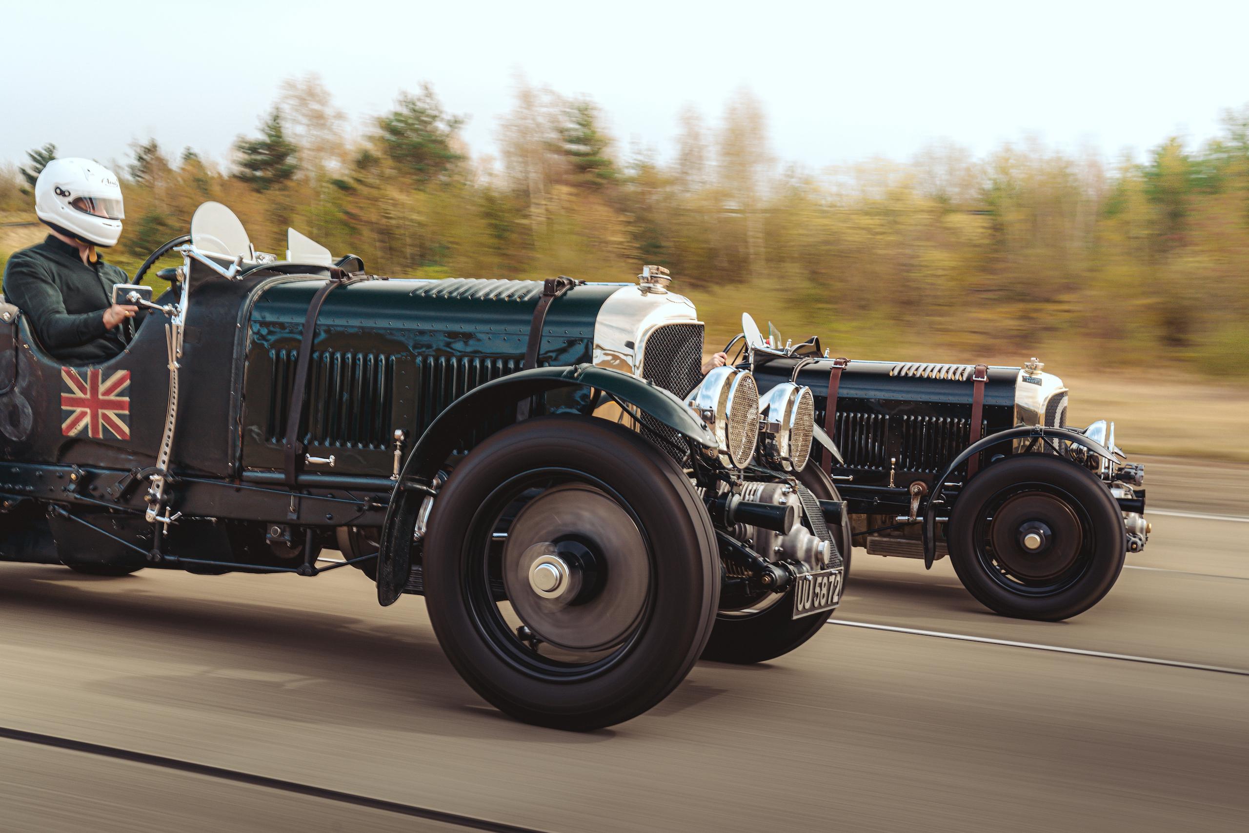 Blower Bentley racing action