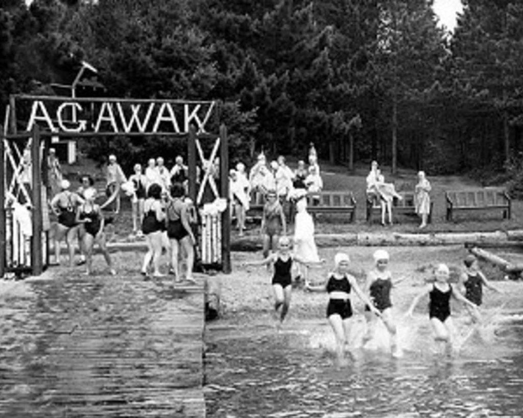 Camp Agawak Girls Camp swimming