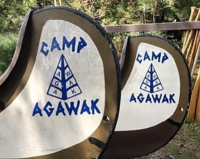 Camp Agawak Girls Camp canoes