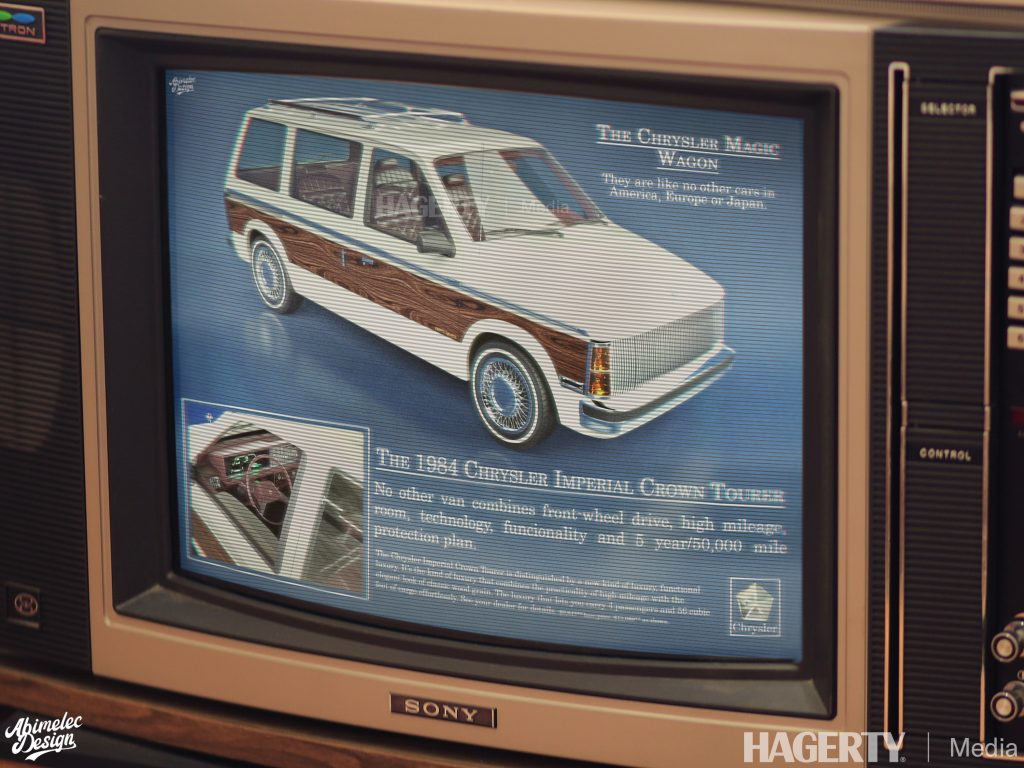 Chrysler Imperial Crown Tourer Ad in box television mock up