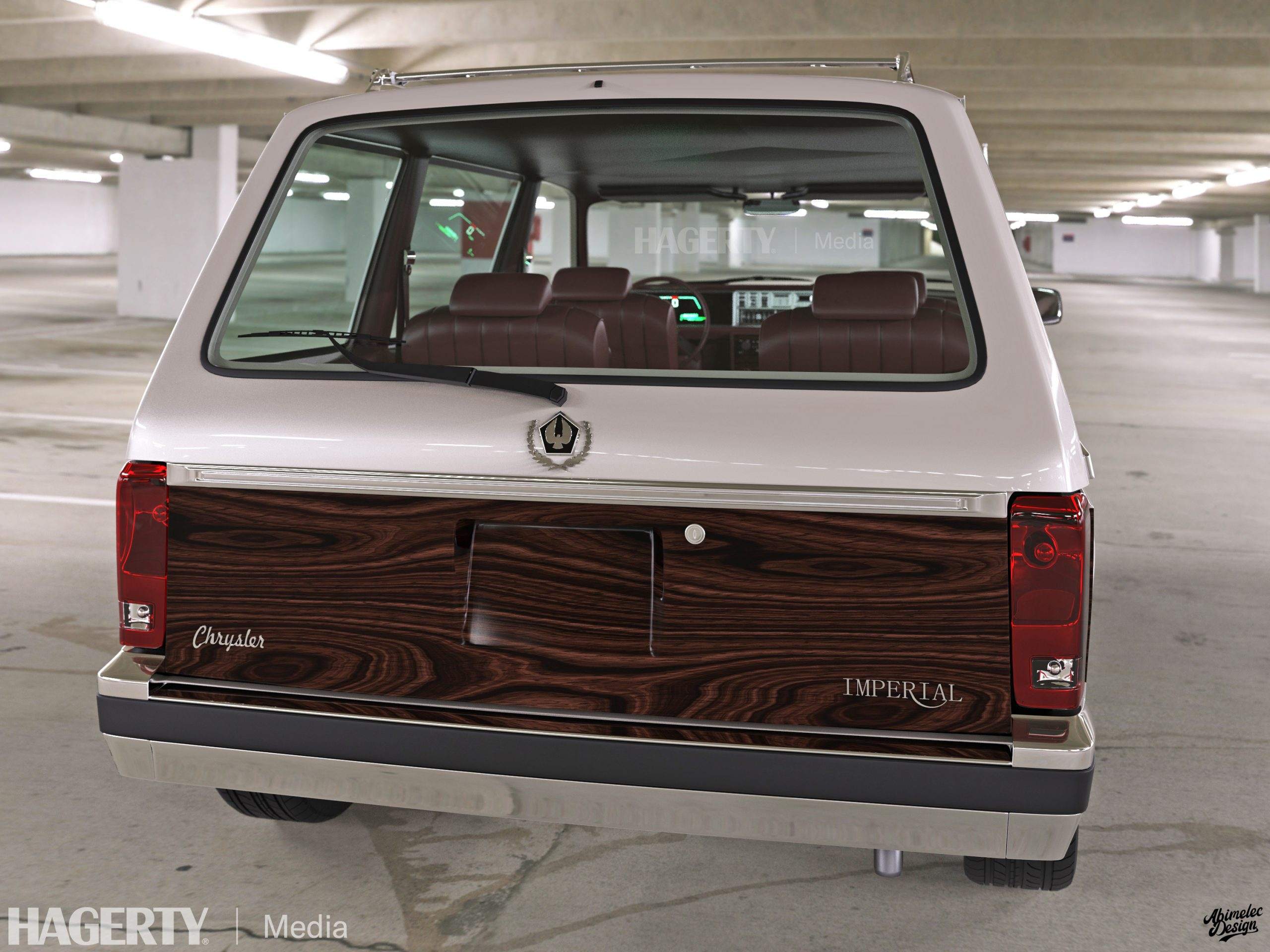 Chrysler Imperial Crown Tourer silver rear