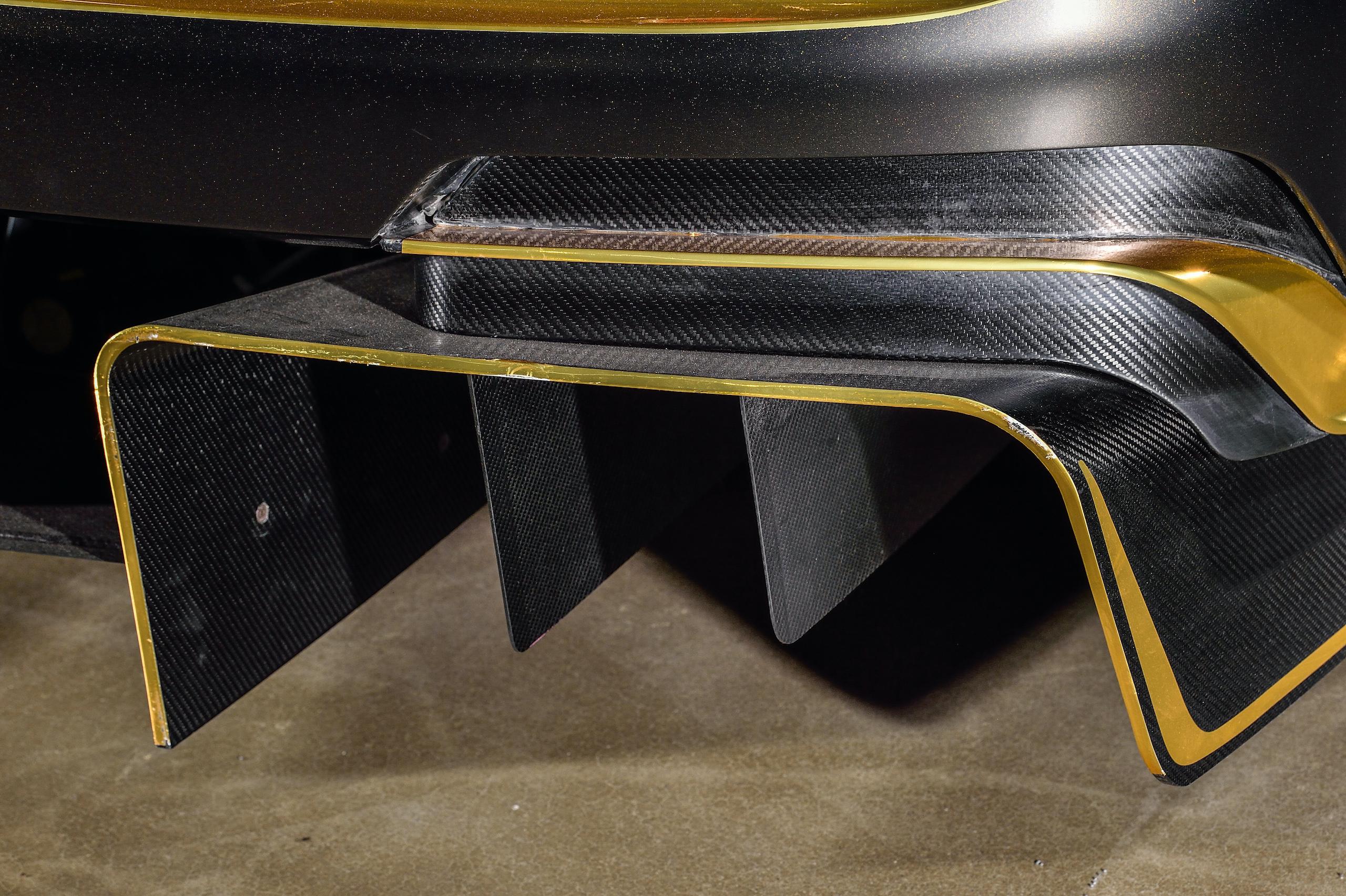 Bentley Continental GT3 Pikes Peak rear aerodynamics detail