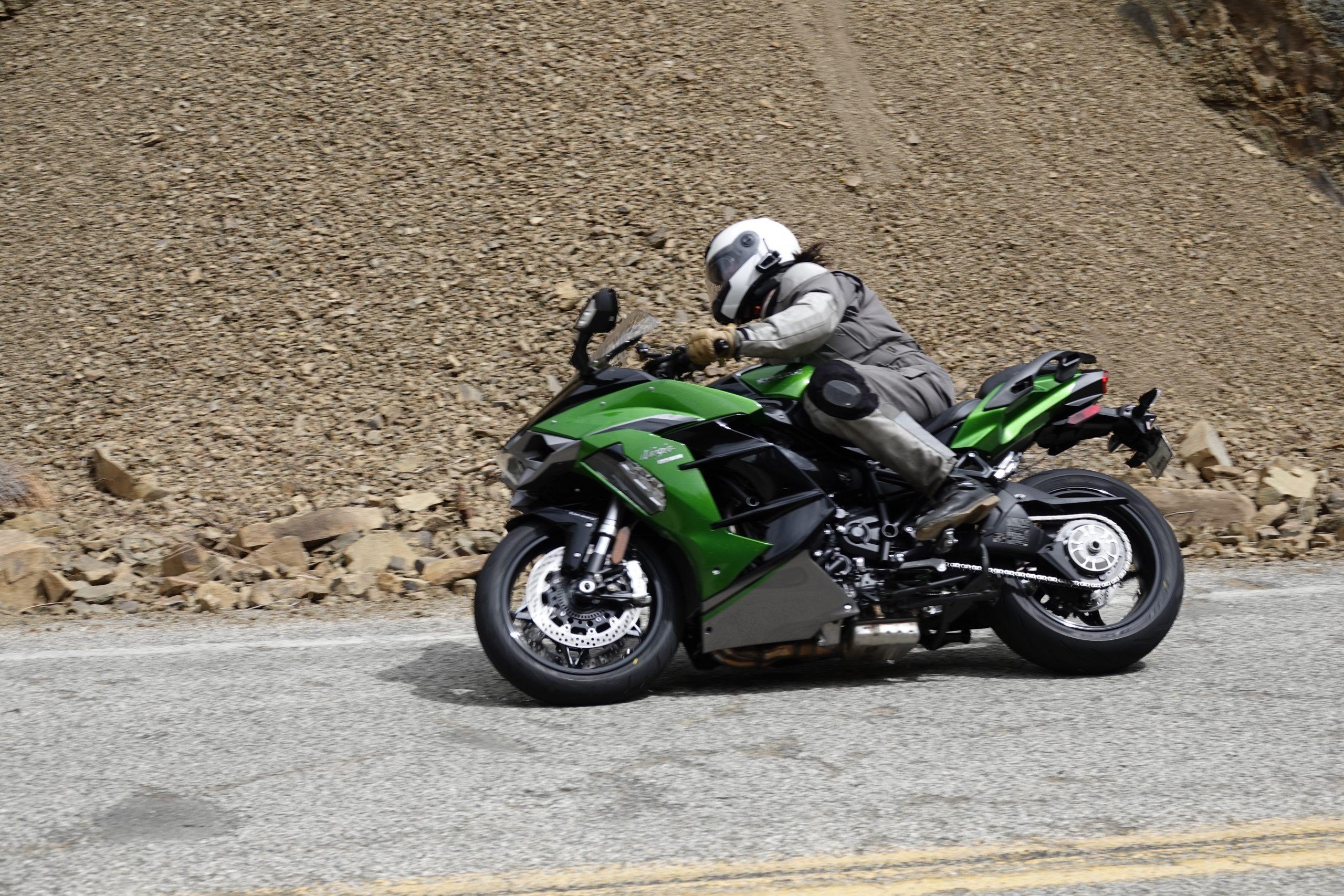 2021 Kawasaki H2 SX-SE side profile action