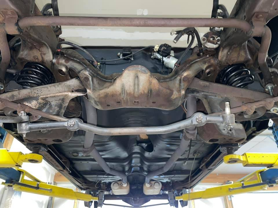 Dry Ice GTO underbody after