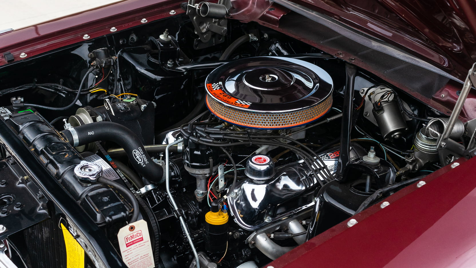 FoMoCo Ford 289 engine in Fairlane