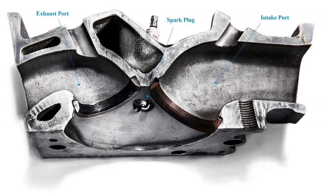 426 hemi aluminum cylinder head cutaway