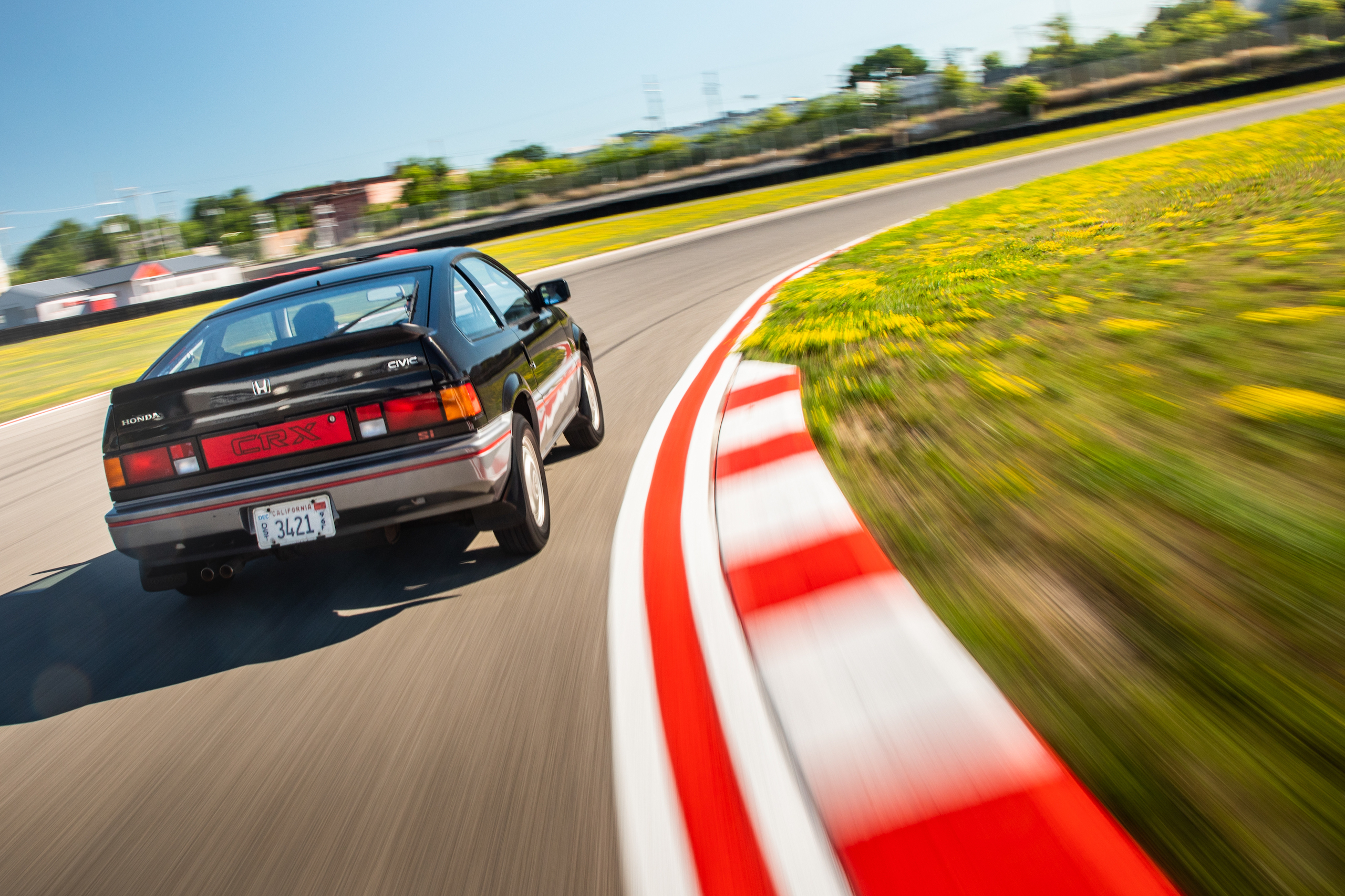 1985 CRX Si rear track action