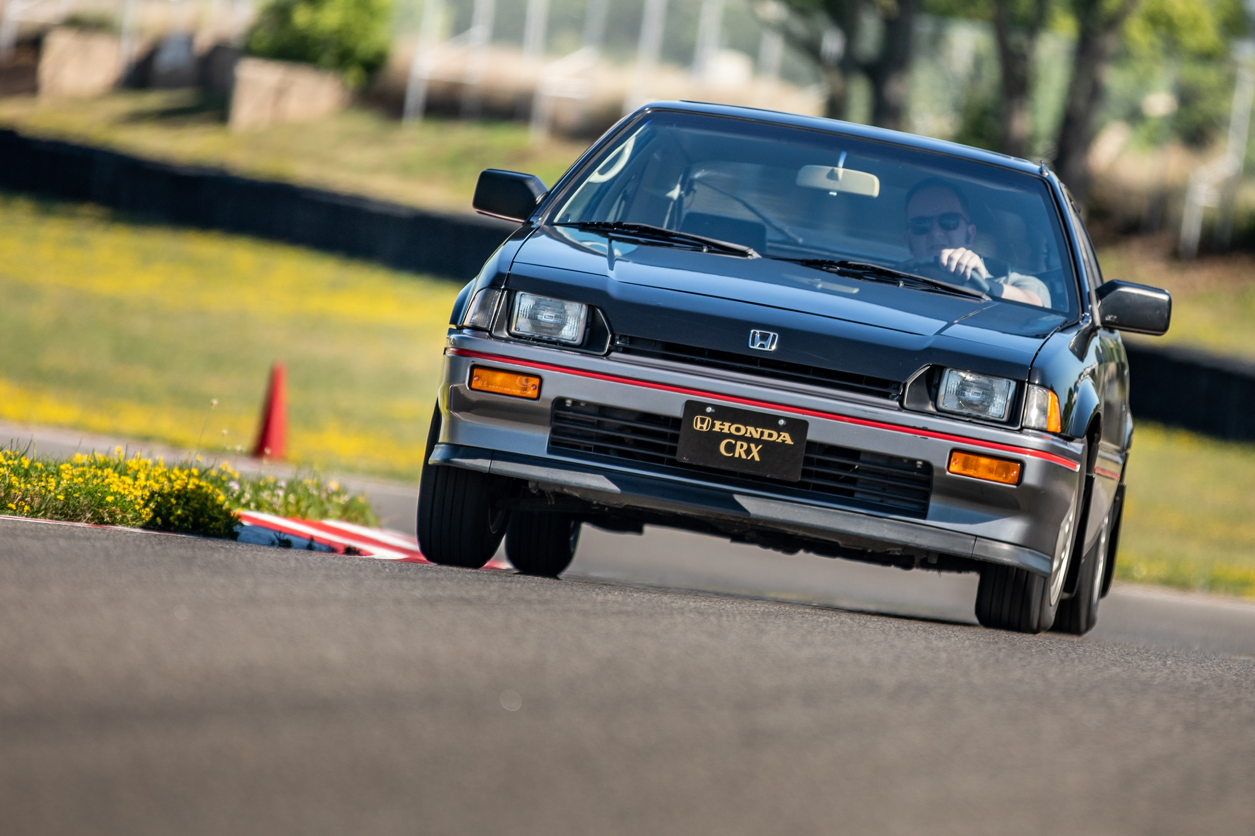 1985 CRX Si front track action