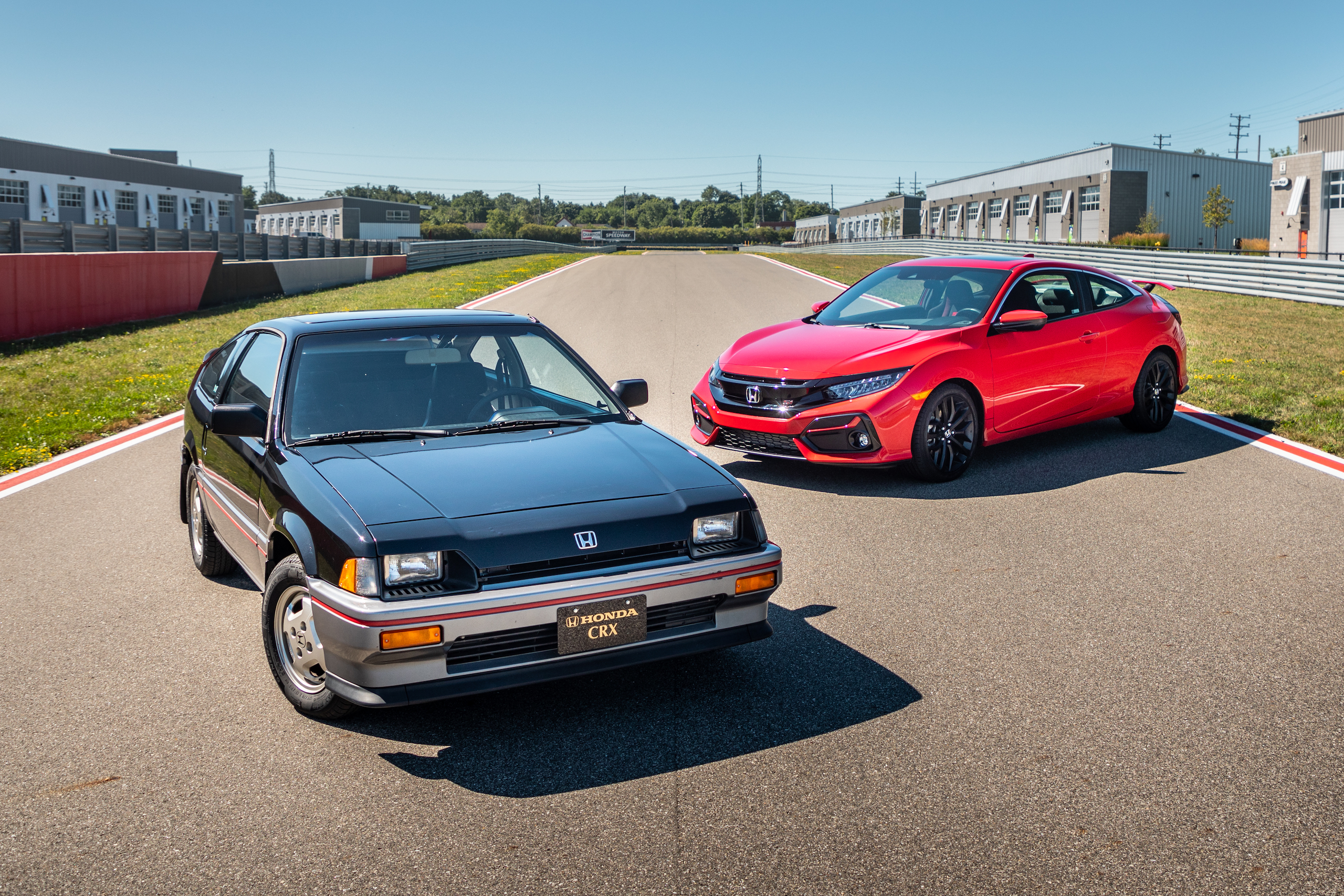 1985 CRX Si and 2020 Civic Si
