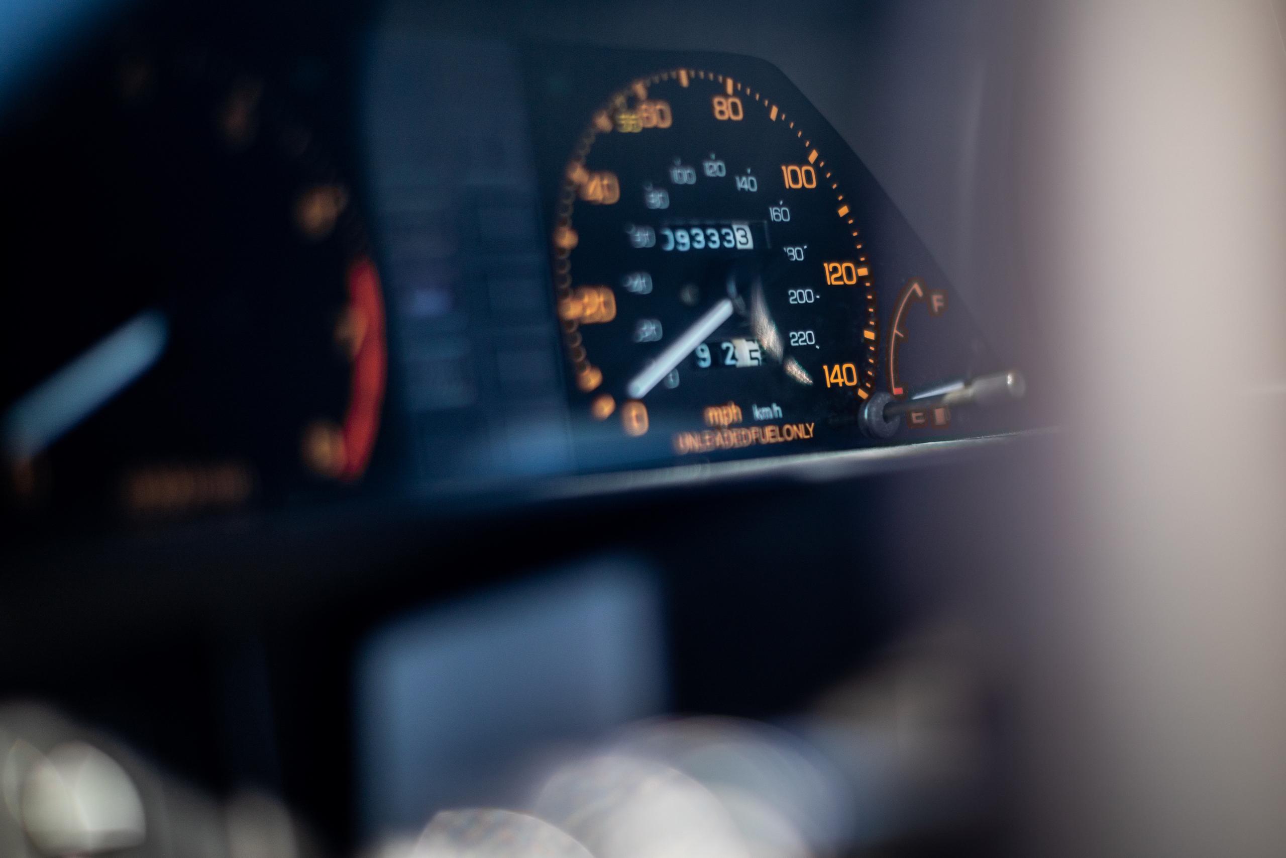 1985 CRX Si dash speedometer