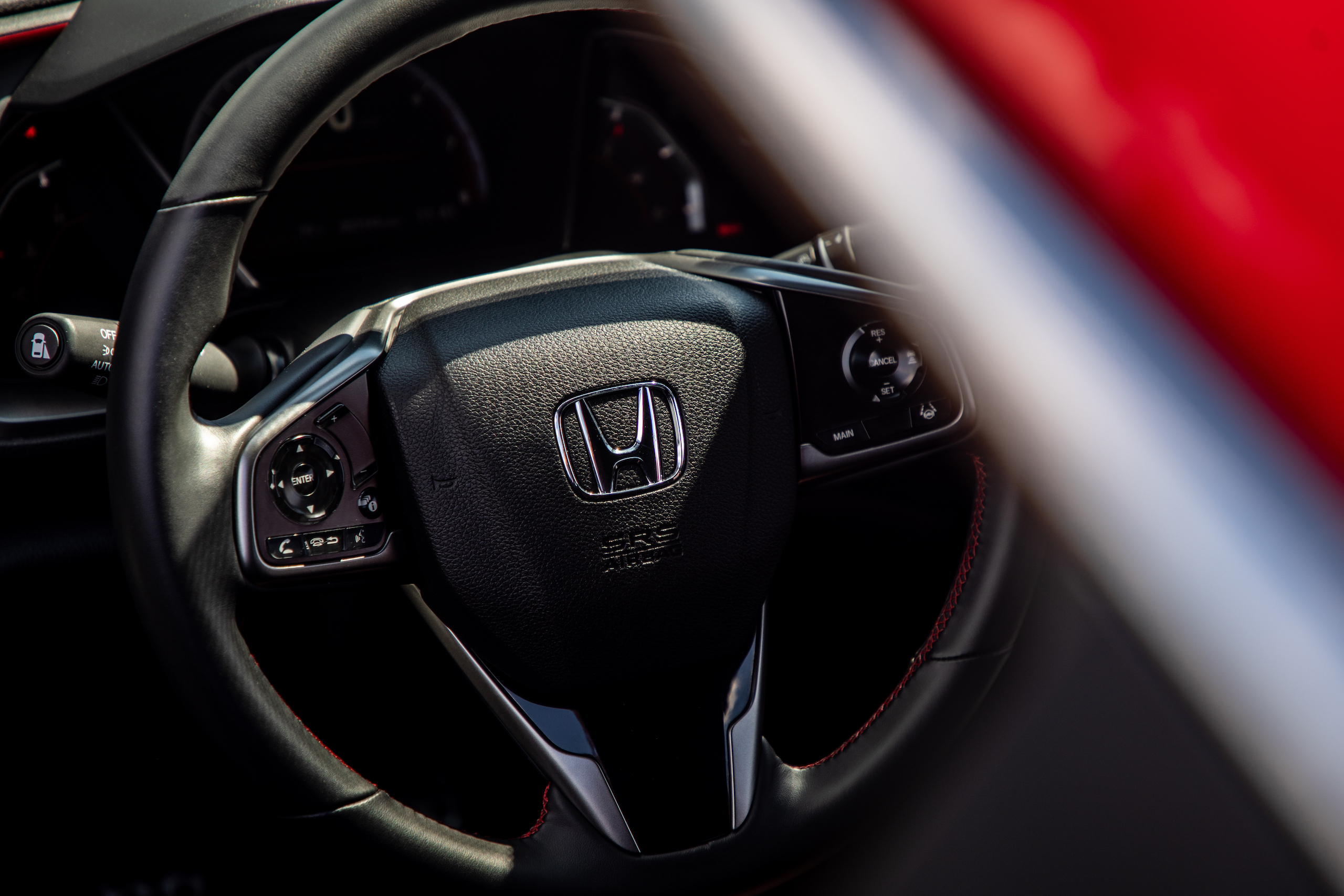 2020 Civic Si interior steering wheel