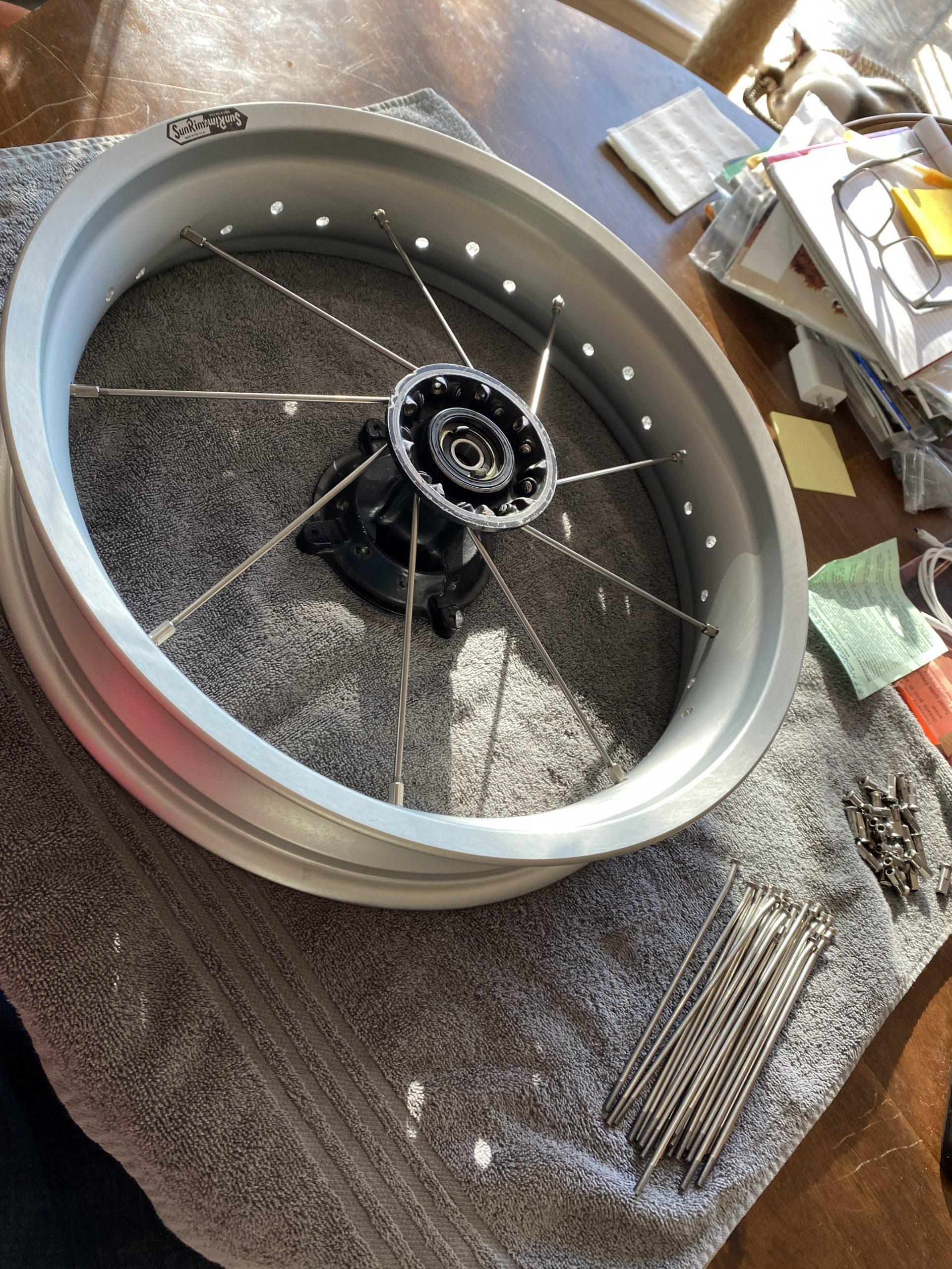 starting lacing motorcycle wheel